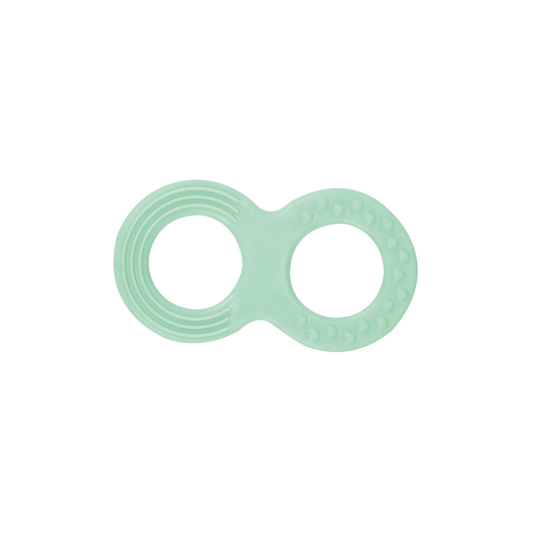 Прорезыватель Восьмерка, Kurnosiki, зеленыйПрорезыватели<br>Характеристики:<br><br>• Наименование: прорезыватель<br>• Пол: универсальный<br>• Материал: пластик<br>• Цвет: зеленый<br>• Наличие выпуклых элементов разной формы и фактуры <br>• Вес: 50 г<br>• Параметры (Д*Ш*В): 9*5*0,5 см <br>• Упаковка: блистер c с европодвесом<br><br>Игрушка Восьмерка, Kurnosiki, зеленый выполнена из пластика. Корпус прорезывателя представляет собой восьмерку. Поверхность игрушки с выпуклыми элементами различной формы обеспечивает массаж десен и развитие тактильного восприятия. <br><br>Прорезыватель имеет эргономичную форму, благодаря чему малышу будет удобно не только держать в руках, но и развивать хватательный рефлекс. Игрушка имеет легкий вес и компактный размер, благодаря чему ее удобно брать с собой на прогулки или в поездки.<br><br>Игрушку Восьмерку, Kurnosiki, зеленый можно купить в нашем интернет-магазине.<br><br>Ширина мм: 10<br>Глубина мм: 120<br>Высота мм: 170<br>Вес г: 29<br>Возраст от месяцев: 4<br>Возраст до месяцев: 18<br>Пол: Унисекс<br>Возраст: Детский<br>SKU: 5428669