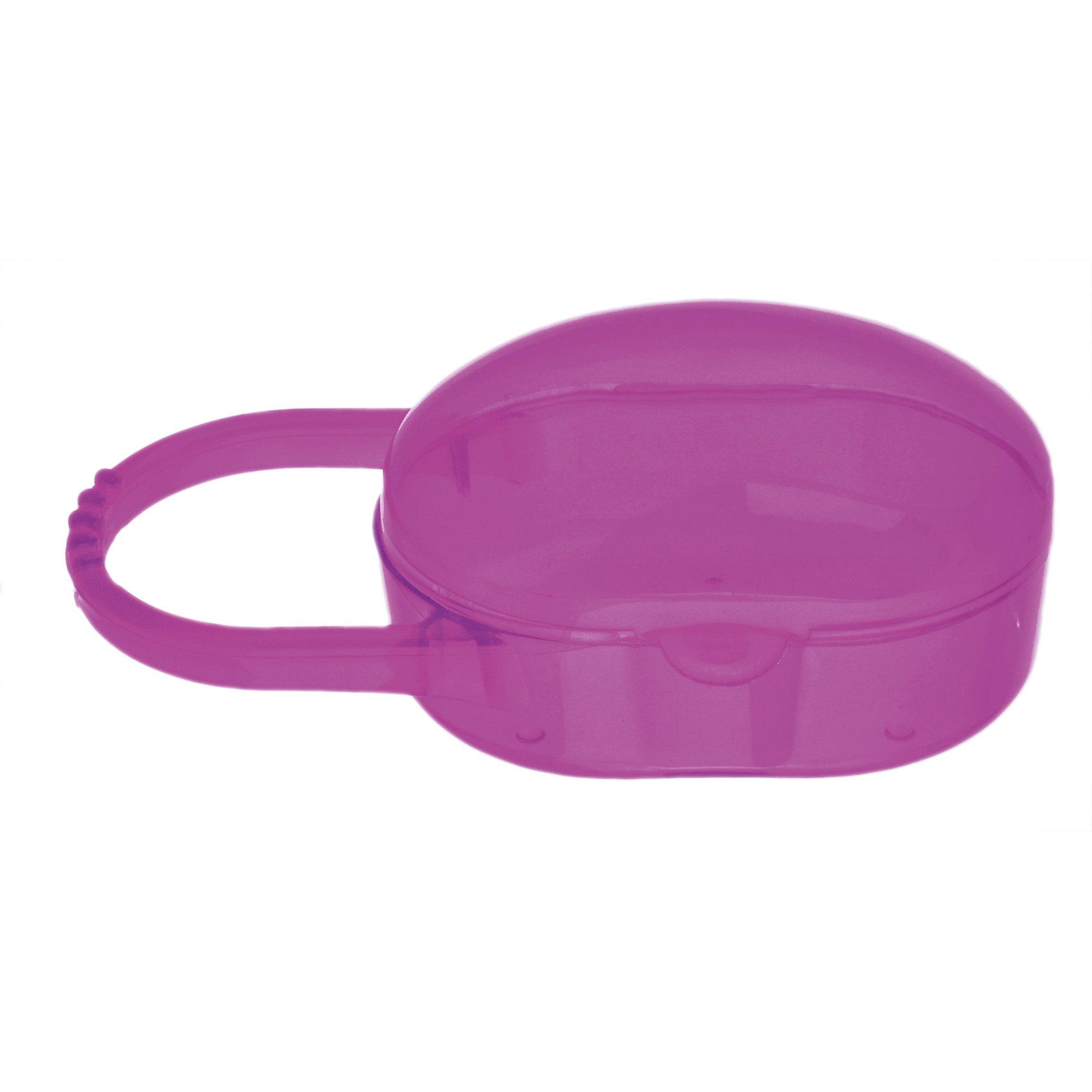Футляр для пустышки 0+, Kurnosiki, розовыйПустышки и аксессуары<br>Характеристики:<br><br>• Наименование: футляр для пустышки<br>• Материал: пластик<br>• Пол: для девочки<br>• Цвет: розовый<br>• Универсальный размер<br>• Предусмотрена ручка для подвешивания<br>• Вес: 50 г<br>• Параметры (Д*Ш*В): 13*5,5*5 см <br>• Особенности ухода: разрешается мыть в горячей мыльной воде<br><br>Футляр в виде сумочки с одним отделением универсального размера. Пластик, из которого изготовлено изделие, имеет высокую прочность, устойчив к появлению царапин и сколов. Изделие разрешается мыть в горячей воде. Для удобства использования предусмотрена ручка, за которую футляр можно подвешивать к коляске или сумочке.<br><br>Футляр для пустышки 0+, Kurnosiki, розовый можно купить в нашем интернет-магазине.<br><br>Ширина мм: 40<br>Глубина мм: 100<br>Высота мм: 180<br>Вес г: 38<br>Возраст от месяцев: 0<br>Возраст до месяцев: 18<br>Пол: Женский<br>Возраст: Детский<br>SKU: 5428675