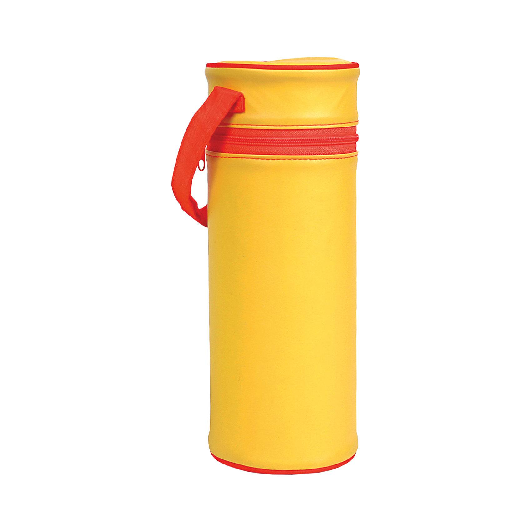 Контейнер для стандартной бутылочки, Kurnosiki, желтыйХарактеристики:<br><br>• Наименование: контейнер для бутылочки<br>• Материал: ПВХ, полиуретан<br>• Пол: универсальный<br>• Цвет: желтый<br>• Универсальный размер: вмещают бутылочки объемом до 250 мл<br>• Предусмотрена ручка для подвешивания<br>• Застежка-молния<br>• Вес: 200 г<br>• Параметры (Д*Ш*В): 15*10*20 см <br>• Упаковка: пакет<br>• Особенности ухода: влажная и сухая чистка<br><br>Контейнер для стандартной бутылочки, Kurnosiki, зеленый в виде термоса выполнен из сочетания ПВХ и полиуретена, которые обеспечивают сохранение температуры детского питания в бутылочке. У изделия предусмотрена крышка на застежке-молнии, которая усиливает герметичность. <br><br>Футляр имеет легкий вес и компактный размер, нго удобно брать с собой в поездки и на прогулки. Для удобства использования предусмотрена ручка, за которую футляр можно подвешивать к коляске или сумочке.<br><br>Контейнер для стандартной бутылочки, Kurnosiki, желтый можно купить в нашем интернет-магазине.<br><br>Ширина мм: 90<br>Глубина мм: 120<br>Высота мм: 310<br>Вес г: 83<br>Возраст от месяцев: 0<br>Возраст до месяцев: 18<br>Пол: Унисекс<br>Возраст: Детский<br>SKU: 5428678