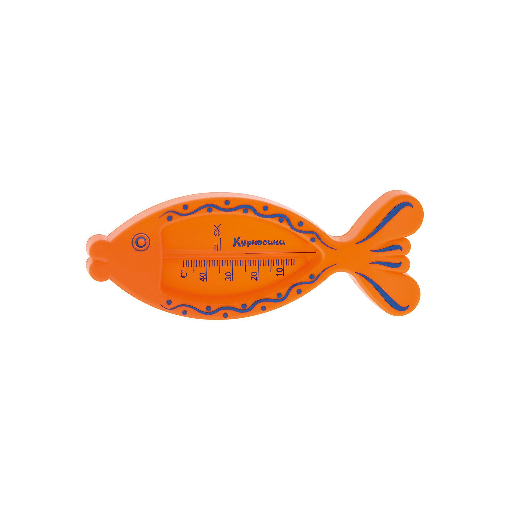 Термометр для ванны Рыбка, Kurnosiki, оранжевыйХарактеристики:<br><br>• Наименование: термометр для ванны<br>• Материал: пластик<br>• Пол: универсальный<br>• Цвет: оранжевый<br>• Форма: рыбка<br>• Тип шкалы: по Цельсию <br>• Максимальное значение: 50? С<br>• Минимальное значение: 5? С<br>• Нанесена отметка напротив оптимальной температуры для купания<br>• Ударопрочный корпус <br>• Не содержит ртути<br>• Отсутствие острых углов<br>• Вес: 50 г<br>• Параметры (Д*Ш*В): 25*2*9 см <br>• Особенности ухода: сухая и влажная чистка<br><br>Термометр для ванны Рыбка, Kurnosiki, зеленый выполнен из ударопрочного пластика, не содержит ртути. Форма градусника представляет собой ярко-зеленую рыбку с хвостиком. Цена деления у градусника 1 градус, напротив оптимальной температуры для купания нанесена отметка. <br><br>Чтобы градусник определил температуру воды с высокой точностью, его необходимо подержать в воде не менее 1 минуты. Термометр для ванны Рыбка, Kurnosiki, зеленый станет незаменимым помощником для мамы во время купания малыша.<br><br>Термометр для ванны Рыбка, Kurnosiki, зеленый можно купить в нашем интернет-магазине.<br><br>Ширина мм: 20<br>Глубина мм: 120<br>Высота мм: 200<br>Вес г: 38<br>Возраст от месяцев: 0<br>Возраст до месяцев: 36<br>Пол: Унисекс<br>Возраст: Детский<br>SKU: 5428695