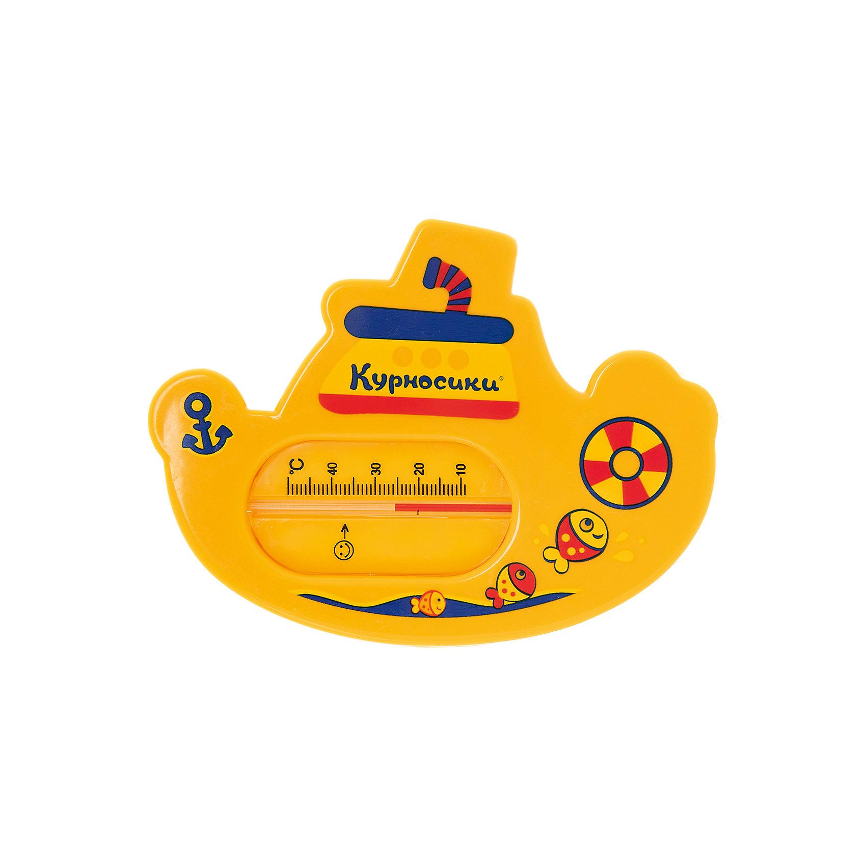 Термометр для ванной Китенок, Kurnosiki, желтыйПрочие аксессуары<br>Характеристики:<br><br>• Наименование: термометр для ванны<br>• Материал: пластик<br>• Пол: универсальный<br>• Цвет: жёлтый<br>• Форма: китенок<br>• Тип шкалы: по Цельсию <br>• Максимальное значение: 50? С<br>• Минимальное значение: 9? С<br>• Нанесена отметка напротив оптимальной температуры для купания<br>• Ударопрочный корпус <br>• Не содержит ртути<br>• Отсутствие острых углов<br>• Вес: 80 г<br>• Параметры (Д*Ш*В): 10*5*10 см <br>• Особенности ухода: сухая и влажная чистка<br><br>Термометр для ванны Китенок, Kurnosiki, фиолетовый выполнен из ударопрочного пластика, не содержит ртути. Форма градусника представляет собой китенка, выполненного в ярких цветах. Цена деления у шкалы 1 градус, напротив оптимальной температуры для купания нанесена отметка. <br><br>Чтобы градусник определил температуру воды с высокой точностью, его необходимо подержать в воде не менее 1 минуты. Термометр для ванны Китенок, Kurnosiki, фиолетовый станет незаменимым помощником для мамы во время купания малыша.<br><br>Термометр для ванны Китенок, Kurnosiki, фиолетовый можно купить в нашем интернет-магазине.<br><br>Ширина мм: 15<br>Глубина мм: 130<br>Высота мм: 170<br>Вес г: 76<br>Возраст от месяцев: 0<br>Возраст до месяцев: 36<br>Пол: Унисекс<br>Возраст: Детский<br>SKU: 5428702