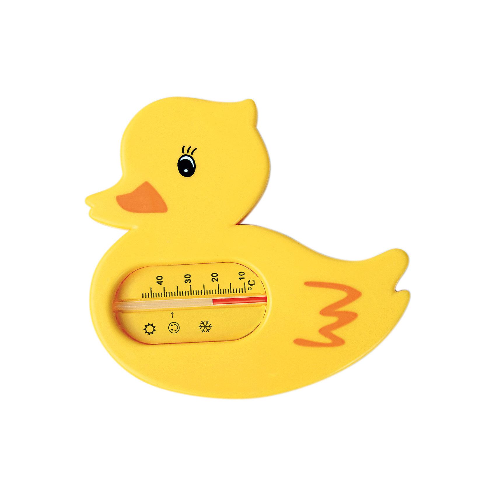 Термометр для ванной Уточка, Kurnosiki, желтыйХарактеристики:<br><br>• Наименование: термометр для ванны<br>• Материал: пластик<br>• Пол: универсальный<br>• Цвет: желтый<br>• Форма: уточка<br>• Тип шкалы: по Цельсию <br>• Максимальное значение: 48? С<br>• Минимальное значение: 10? С<br>• Нанесена отметка напротив оптимальной температуры для купания<br>• Ударопрочный корпус <br>• Не содержит ртути<br>• Отсутствие острых углов<br>• Вес: 80 г<br>• Параметры (Д*Ш*В): 10*5*10 см <br>• Особенности ухода: сухая и влажная чистка<br><br>Термометр для ванны Уточка, Kurnosiki, желтый выполнен из ударопрочного пластика, не содержит ртути. Форма градусника представляет собой ярко-желтую уточку. Цена деления у шкалы 1 градус, напротив оптимальной температуры для купания нанесена отметка. <br><br>Чтобы градусник определил температуру воды с высокой точностью, его необходимо подержать в воде не менее 1 минуты. Термометр для ванны Уточка, Kurnosiki, желтый станет незаменимым помощником для мамы во время купания малыша.<br><br>Термометр для ванны Уточка, Kurnosiki, желтый можно купить в нашем интернет-магазине.<br><br>Ширина мм: 10<br>Глубина мм: 120<br>Высота мм: 200<br>Вес г: 69<br>Возраст от месяцев: 0<br>Возраст до месяцев: 36<br>Пол: Унисекс<br>Возраст: Детский<br>SKU: 5428704