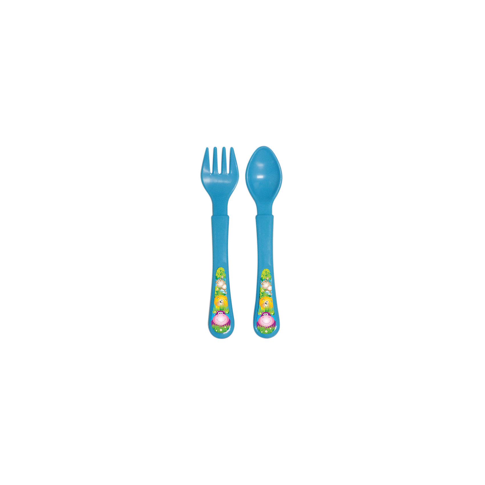 Набор: ложечка и вилочка, серия «Сафари», Kurnosiki, синийПосуда для малышей<br>Характеристики:<br><br>• Наименование: столовые приборы<br>• Материал: пластик<br>• Пол: для мальчика<br>• Цвет: синий<br>• Тематика рисунка: животные сафари<br>• Комплектация: ложка, вилка<br>• У вилки закругленные зубцы<br>• Удобные ручки<br>• Отсутствие острых краев<br>• Вес: 40 г<br>• Параметры (Д*Ш*В): 20*3*10 см <br>• Особенности ухода: разрешается мыть в посудомоечной машине<br><br>Набор: ложечка и вилочка, серия «Сафари», Kurnosiki, зеленый состоит из двух столовых приборов, выполненных из безопасного и ударопрочного пластика, что обеспечивает их гигиену. У вилки зубцы закругленные, ручки у изделий средней ширины, округлые, что делает из безопасными для маленьких детей. <br><br>Набор: ложечка и вилочка, серия «Сафари», Kurnosiki, зеленый выполнен в ярком дизайне: на ручках нанесены изображения животных сафари. Рисунок устойчивый, не стирается и не изменяет цвет даже при частом использовании. Набор столовых приборов от Курносиков позволит научить вашего малыша правильно пользоваться вилкой и ложкой без особого труда!<br><br>Набор: ложечка и вилочка, серия «Сафари», Kurnosiki, зеленый можно купить в нашем интернет-магазине.<br><br>Ширина мм: 20<br>Глубина мм: 90<br>Высота мм: 200<br>Вес г: 41<br>Возраст от месяцев: 4<br>Возраст до месяцев: 36<br>Пол: Мужской<br>Возраст: Детский<br>SKU: 5428709