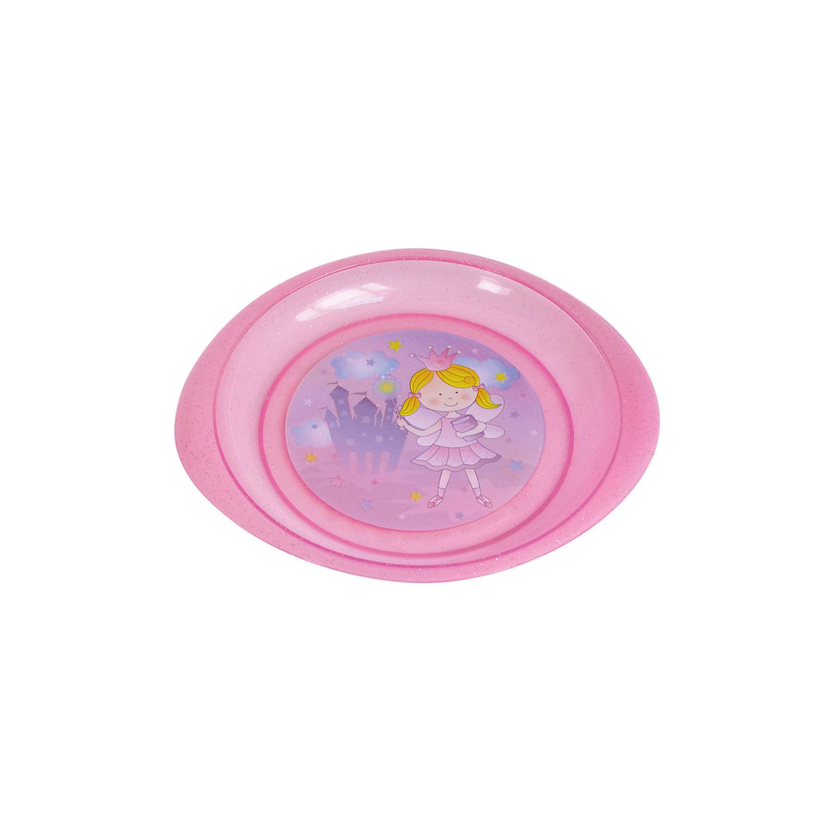 Тарелочка для вторых блюд, Kurnosiki, розовыйХарактеристики:<br><br>• Наименование: тарелочка для вторых блюд<br>• Материал: пластик<br>• Пол: для девочки<br>• Цвет: розовый<br>• Тематика рисунка: принцесса, замок<br>• Можно использовать как для холодных, так и для горячих блюд<br>• Можно использовать для СВЧ<br>• Удобные ручки с антискользящей поверхностью<br>• Декорирована блестками<br>• Вес: 80 г<br>• Параметры (Д*Ш*В): 28*21*2 см <br>• Особенности ухода: разрешается мыть в посудомоечной машине<br><br>Тарелочка для вторых блюд, Kurnosiki, фиолетовый выполнена из безопасного и ударопрочного пластика, по бокам имеются литые нескользящие ручки. <br><br>Тарелочка для вторых блюд, Kurnosiki, фиолетовый выполнена в ярком дизайне: дно оформлено сюжетной картинкой принцессы на фоне замка, весь корпус декорирован блестками. Рисунок устойчив к выцветанию и истиранию. Тарелочка для вторых блюд от Курносиков позволит без труда накормить даже самых непоседливых маленьких принцесс!<br><br>Тарелочку для вторых блюд, Kurnosiki, фиолетовый можно купить в нашем интернет-магазине.<br><br>Ширина мм: 70<br>Глубина мм: 100<br>Высота мм: 190<br>Вес г: 63<br>Возраст от месяцев: 4<br>Возраст до месяцев: 36<br>Пол: Женский<br>Возраст: Детский<br>SKU: 5428718