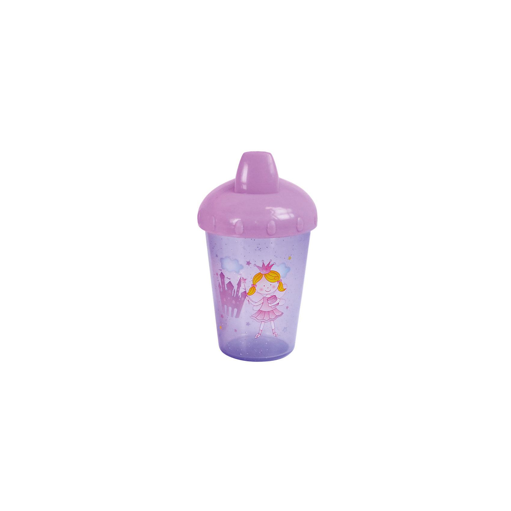 Поильник-непроливайка Принцесса, 260 мл, Kurnosiki, фиолетовыйПоильники<br>Характеристики:<br><br>• Предназначение: для приучения к кружке<br>• Материал: пластик, силикон<br>• Пол: для девочки<br>• Цвет: фиолетовый<br>• Тематика рисунка: принцессы<br>• Объем: 260 мл<br>• Тип носика: жесткий<br>• Удобный широкий носик<br>• Съемная крышка<br>• Силиконовый-клапан непроливайка<br>• Можно использовать как для холодных, так и для горячих напитков<br>• Вес: 100 г<br>• Особенности ухода: разрешается мыть в посудомоечной машине<br><br>Поильник-непроливайка Принцесса, 260 мл, Kurnosiki, фиолетовый изготовлен из безопасного и ударопрочного пластика, устойчивого к появлению царапин и сколов. Форма изделия выполнена с учетом особенностей размера детских ручек, поэтому малышу будет удобно держать поильник. <br><br>Крышка оснащена твердым широким носиком, который обеспечивает оптимальный поток жидкости. Крышка с носиком плотно и герметично фиксируется на стакане, дополнительно предусмотрен силиконовый клапан, который защищает от проливания и протекания. <br><br>Изделие выполнено в ярком дизайне: стакан декорирован блестками и изображением принцессы. Без крышки изделие можно использовать в качестве стакана. С поильником-непроливайкой Принцесса, 260 мл, Kurnosiki, фиолетовый ваш малыш легко и быстро научится пить из кружки!<br><br>Поильник-непроливайку Принцесса, 260 мл, Kurnosiki, фиолетовый можно купить в нашем интернет-магазине.<br><br>Ширина мм: 80<br>Глубина мм: 100<br>Высота мм: 190<br>Вес г: 70<br>Возраст от месяцев: 4<br>Возраст до месяцев: 36<br>Пол: Женский<br>Возраст: Детский<br>SKU: 5428732