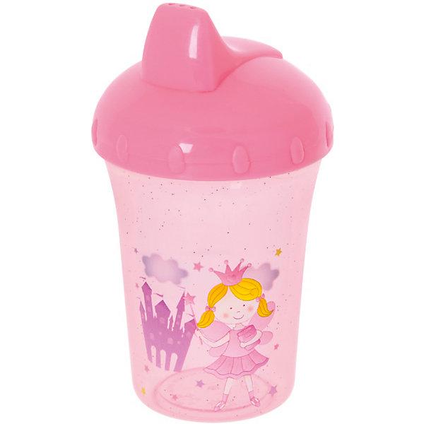 Поильник-непроливайка Принцесса, 260 мл, Kurnosiki, розовыйПоильники<br>Характеристики:<br><br>• Предназначение: для приучения к кружке<br>• Материал: пластик, силикон<br>• Пол: для девочки<br>• Цвет: розовый<br>• Тематика рисунка: принцессы<br>• Объем: 260 мл<br>• Тип носика: жесткий<br>• Удобный широкий носик<br>• Съемная крышка<br>• Силиконовый-клапан непроливайка<br>• Можно использовать как для холодных, так и для горячих напитков<br>• Вес: 100 г<br>• Особенности ухода: разрешается мыть в посудомоечной машине<br><br>Поильник-непроливайка Принцесса, 260 мл, Kurnosiki, фиолетовый изготовлен из безопасного и ударопрочного пластика, устойчивого к появлению царапин и сколов. Форма изделия выполнена с учетом особенностей размера детских ручек, поэтому малышу будет удобно держать поильник. <br><br>Крышка оснащена твердым широким носиком, который обеспечивает оптимальный поток жидкости. Крышка с носиком плотно и герметично фиксируется на стакане, дополнительно предусмотрен силиконовый клапан, который защищает от проливания и протекания. <br><br>Изделие выполнено в ярком дизайне: стакан декорирован блестками и изображением принцессы. Без крышки изделие можно использовать в качестве стакана. С поильником-непроливайкой Принцесса, 260 мл, Kurnosiki, фиолетовый ваш малыш легко и быстро научится пить из кружки!<br><br>Поильник-непроливайку Принцесса, 260 мл, Kurnosiki, фиолетовый можно купить в нашем интернет-магазине.<br><br>Ширина мм: 80<br>Глубина мм: 100<br>Высота мм: 190<br>Вес г: 70<br>Возраст от месяцев: 4<br>Возраст до месяцев: 36<br>Пол: Женский<br>Возраст: Детский<br>SKU: 5428733