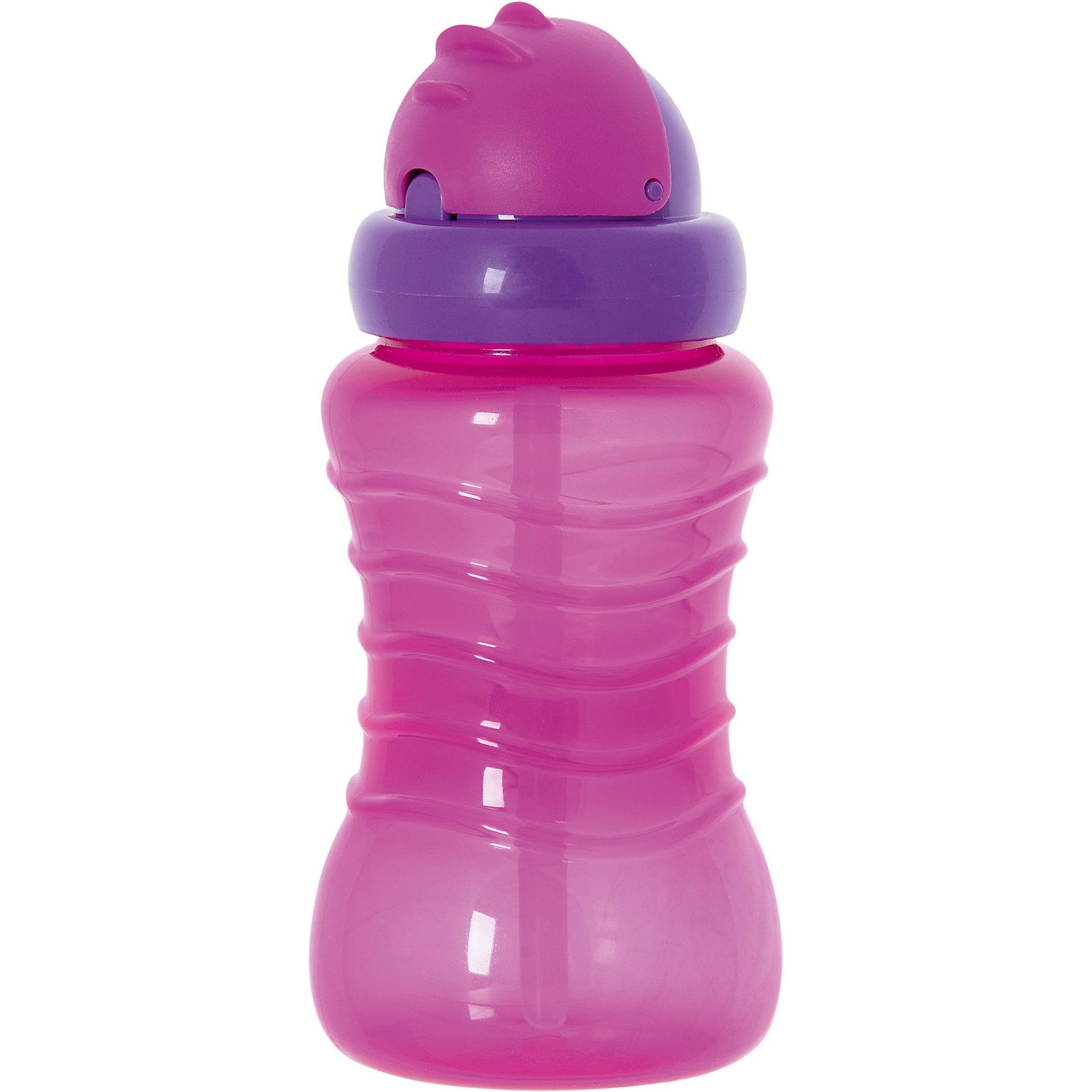 Поильник-непроливайка с соломинкой, 310 мл, Kurnosiki, розовыйПоильники<br>Характеристики:<br><br>• Предназначение: для приучения к кружке, для занятий спортом<br>• Материал: пластик, силикон<br>• Пол: для девочки<br>• Цвет: розовый<br>• Тематика рисунка: без рисунка<br>• Объем: 310 мл<br>• Наличие силиконовой соломинки<br>• Крышка-клапан<br>• Можно использовать как для холодных, так и для горячих напитков<br>• Вес: 120 г<br>• Особенности ухода: разрешается мыть в посудомоечной машине<br><br>Поильник-непроливайка с соломинкой, 310 мл, Kurnosiki, фиолетовый изготовлен из безопасного и ударопрочного пластика, устойчивого к появлению царапин и сколов. Изделие выполнено в стильном спортивном дизайне. Внутри бутылки имеется мягкая силиконовая трубочка, которая выдвигается при нажатии на крышку. <br><br>Для защиты от проливания у поильника предусмотрена герметичная крышка. Поильник-непроливайка с соломинкой, 310 мл, Kurnosiki, фиолетовый станет незаменимым атрибутом не только для приучения малыша к кружке, но и во время занятий спортом!<br><br>Поильник-непроливайку с соломинкой, 310 мл, Kurnosiki, фиолетовый можно купить в нашем интернет-магазине.<br><br>Ширина мм: 70<br>Глубина мм: 80<br>Высота мм: 230<br>Вес г: 87<br>Возраст от месяцев: 6<br>Возраст до месяцев: 36<br>Пол: Женский<br>Возраст: Детский<br>SKU: 5428741