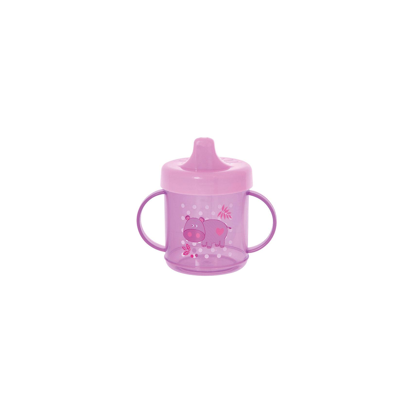 Поильник с ручками, 200 мл, Kurnosiki, фиолетовыйПоильник с силиконовым клапаном-непроливайкой помогает ребенку научиться пить из чашки благодаря специальному носику. Прозрачные стенки позволяют легко определить количество жидкости в поильнике.<br><br>Ширина мм: 70<br>Глубина мм: 120<br>Высота мм: 165<br>Вес г: 104<br>Возраст от месяцев: 4<br>Возраст до месяцев: 36<br>Пол: Женский<br>Возраст: Детский<br>SKU: 5428742