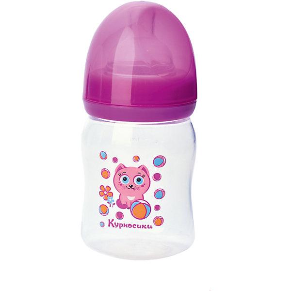 Бутылочка с силиконовой соской Мои первые друзья, 150 мл, Kurnosiki, розовыйБутылочки и аксессуары<br>Характеристики:<br><br>• Наименование: бутылка для кормления<br>• Рекомендуемый возраст: от 0 месяцев<br>• Пол: для девочки<br>• Объем: 150 мл<br>• Материал: силикон, пластик<br>• Цвет: розовый<br>• Рисунок: котёнок Мяу-Мяу<br>• Форма соски: классическая<br>• Поток у соски: медленный<br>• Комплектация: бутылочка, соска, колпачок<br>• Эргономичная форма бутылки<br>• Широкое горлышко<br>• Вес: 100 г<br>• Можно использовать в СВЧ и посудомоечной машине<br>• Особенности ухода: регулярная стерилизация и своевременная замена соски<br><br>Бутылочка с силиконовой соской Мои первые друзья, 150 мл, Kurnosiki, зеленый выполнена из прочного и жароустойчивого пластика, на котором не появляются царапины и сколы. У бутылочки широкое горлышко. Форма – эргономическая, ее удобно держать в руках малышу. Силиконовая соска классической формы, не имеет цвета и запаха, обладает повышенными гипоаллергенными свойствами. <br><br>Изделие выполнено в брендовом дизайне: на бутылочку нанесено изображение одного из героев серии Курносиков ? лягушонка Ква-Ква. Рисунок устойчив к выцветанию и истиранию. Бутылочка с силиконовой соской Мои первые друзья, 150 мл, Kurnosiki – это практичный и стильный предмет для кормления малыша!<br><br>Бутылочку с силиконовой соской Мои первые друзья, 150 мл, Kurnosiki, зеленый можно купить в нашем интернет-магазине.<br><br>Ширина мм: 70<br>Глубина мм: 100<br>Высота мм: 140<br>Вес г: 83<br>Возраст от месяцев: 0<br>Возраст до месяцев: 18<br>Пол: Женский<br>Возраст: Детский<br>SKU: 5428770