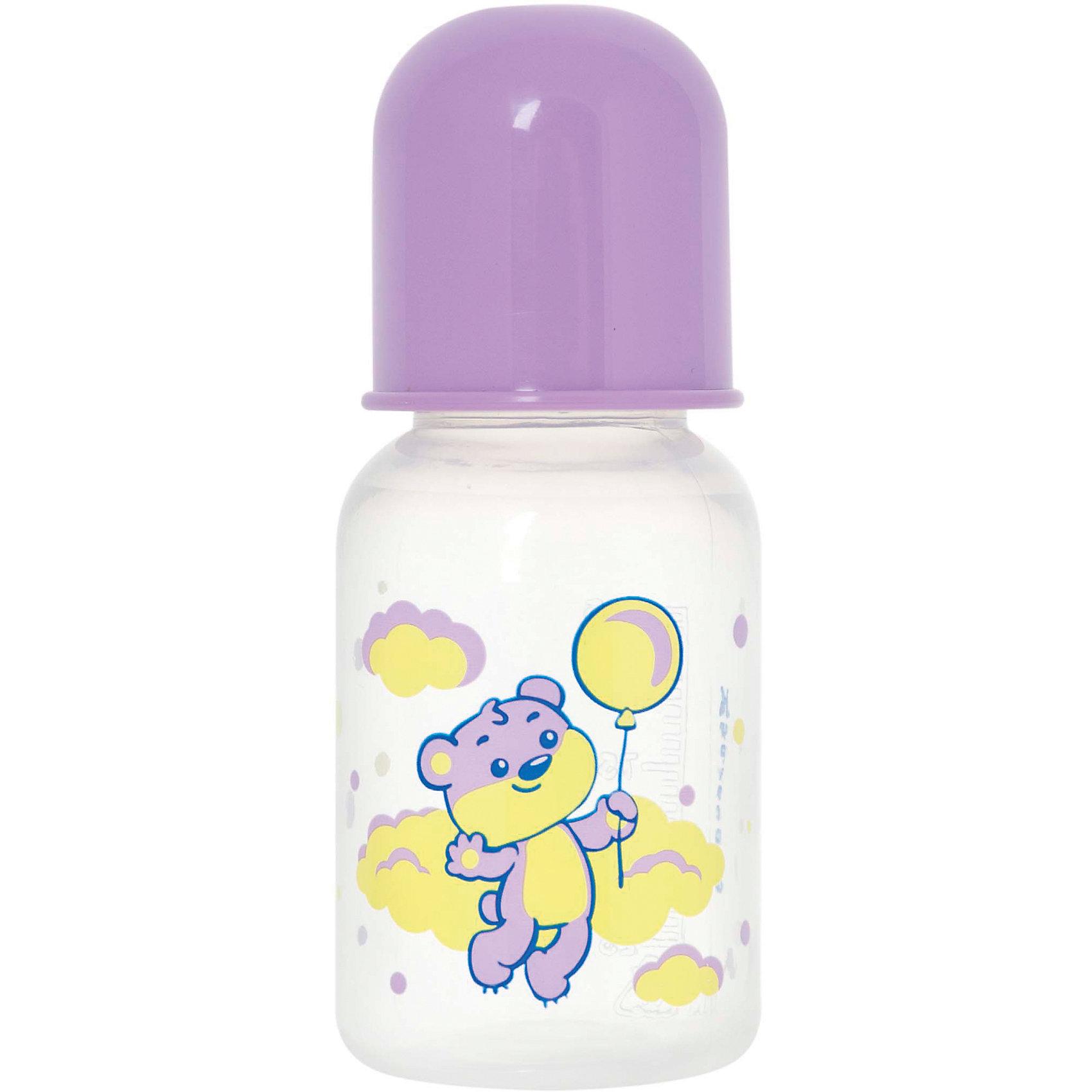 Бутылочка с латексной соской Мои любимые животные, 125 мл, Kurnosiki, фиолетовыйХарактеристики:<br><br>• Наименование: бутылка для кормления<br>• Рекомендуемый возраст: от 0 месяцев<br>• Пол: для девочки<br>• Объем: 125 мл<br>• Материал: латекс, пластик<br>• Цвет: фиолетовый<br>• Серия: Мои любимые животные<br>• Форма соски: классическая<br>• Поток у соски: медленный<br>• Комплектация: бутылочка, соска, колпачок<br>• Эргономичная форма бутылки<br>• Узкое горлышко<br>• Вес: 80 г<br>• Можно использовать в СВЧ и посудомоечной машине<br>• Особенности ухода: регулярная стерилизация и своевременная замена соски<br><br>Бутылочка с латексной соской Мои любимые животные, 125 мл, Kurnosiki, желтый выполнена из прочного и жароустойчивого пластика, на котором не появляются царапины и сколы. У бутылочки узкое горлышко. Форма – эргономическая, ее удобно держать в руках малышу. Латексная соска классической формы длительное время сохраняет свои свойства: не рассасывается и не меняет форму. <br><br>Изделие выполнено в брендовом дизайне: на бутылочку нанесено изображение одного из героев серии – тигренка. Рисунок устойчив к выцветанию и истиранию. Бутылочка с латексной соской Мои любимые животные, 125 мл, Kurnosiki, желтый – это практичный и стильный предмет для кормления малыша!<br><br>Бутылочку с латексной соской Мои любимые животные, 125 мл, Kurnosiki, желтый можно купить в нашем интернет-магазине.<br><br>Ширина мм: 60<br>Глубина мм: 80<br>Высота мм: 170<br>Вес г: 69<br>Возраст от месяцев: 0<br>Возраст до месяцев: 18<br>Пол: Женский<br>Возраст: Детский<br>SKU: 5428773