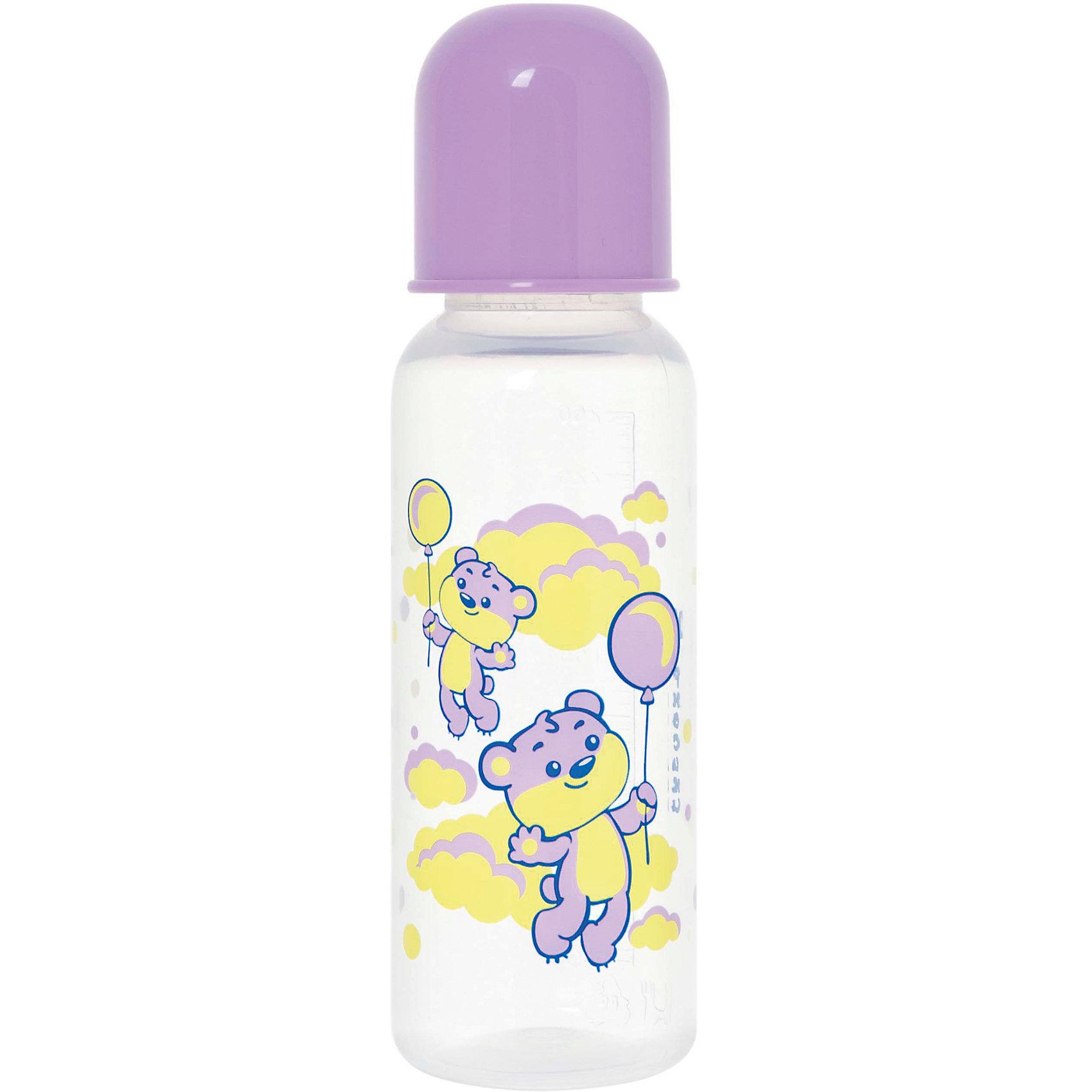Бутылочка с латексной соской Мои любимые животные, 250 мл, Kurnosiki, фиолетовыйХарактеристики:<br><br>• Наименование: бутылка для кормления<br>• Рекомендуемый возраст: от 0 месяцев<br>• Пол: для девочки<br>• Объем: 250 мл<br>• Материал: латекс, пластик<br>• Цвет: фиолетовый<br>• Серия: Мои любимые животные<br>• Форма соски: классическая<br>• Поток у соски: медленный<br>• Комплектация: бутылочка, соска, колпачок<br>• Эргономичная форма бутылки<br>• Узкое горлышко<br>• Вес: 110 г<br>• Можно использовать в СВЧ и посудомоечной машине<br>• Особенности ухода: регулярная стерилизация и своевременная замена соски<br><br>Бутылочка с латексной соской Мои любимые животные, 250 мл, Kurnosiki, желтый выполнена из прочного и жароустойчивого пластика, на котором не появляются царапины и сколы. У бутылочки узкое горлышко. Форма – эргономическая, ее удобно держать в руках малышу. Латексная соска классической формы длительное время сохраняет свои свойства: не рассасывается и не меняет форму. <br><br>Изделие выполнено в брендовом дизайне: на бутылочку нанесено изображение одного из героев серии – тигренка. Рисунок устойчив к выцветанию и истиранию. Бутылочка с латексной соской Мои любимые животные, 250 мл, Kurnosiki, желтый – это практичный и стильный предмет для кормления малыша!<br><br>Бутылочку с латексной соской Мои любимые животные, 250 мл, Kurnosiki, желтый можно купить в нашем интернет-магазине.<br><br>Ширина мм: 60<br>Глубина мм: 80<br>Высота мм: 210<br>Вес г: 78<br>Возраст от месяцев: 0<br>Возраст до месяцев: 18<br>Пол: Женский<br>Возраст: Детский<br>SKU: 5428776