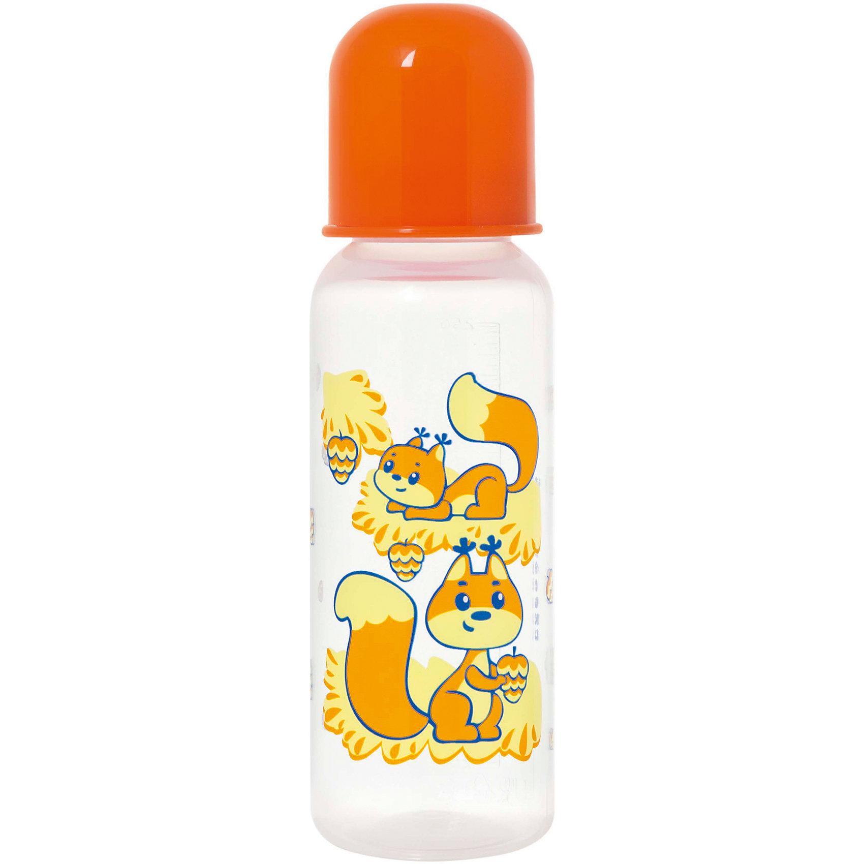 Бутылочка с латексной соской Мои любимые животные, 250 мл, Kurnosiki, оранжевыйБутылочки и аксессуары<br>Характеристики:<br><br>• Наименование: бутылка для кормления<br>• Рекомендуемый возраст: от 0 месяцев<br>• Пол: универсальный<br>• Объем: 250 мл<br>• Материал: латекс, пластик<br>• Цвет: оранжевый<br>• Серия: Мои любимые животные<br>• Форма соски: классическая<br>• Поток у соски: медленный<br>• Комплектация: бутылочка, соска, колпачок<br>• Эргономичная форма бутылки<br>• Узкое горлышко<br>• Вес: 110 г<br>• Можно использовать в СВЧ и посудомоечной машине<br>• Особенности ухода: регулярная стерилизация и своевременная замена соски<br><br>Бутылочка с латексной соской Мои любимые животные, 250 мл, Kurnosiki, желтый выполнена из прочного и жароустойчивого пластика, на котором не появляются царапины и сколы. У бутылочки узкое горлышко. Форма – эргономическая, ее удобно держать в руках малышу. Латексная соска классической формы длительное время сохраняет свои свойства: не рассасывается и не меняет форму. <br><br>Изделие выполнено в брендовом дизайне: на бутылочку нанесено изображение одного из героев серии – тигренка. Рисунок устойчив к выцветанию и истиранию. Бутылочка с латексной соской Мои любимые животные, 250 мл, Kurnosiki, желтый – это практичный и стильный предмет для кормления малыша!<br><br>Бутылочку с латексной соской Мои любимые животные, 250 мл, Kurnosiki, желтый можно купить в нашем интернет-магазине.<br><br>Ширина мм: 60<br>Глубина мм: 80<br>Высота мм: 210<br>Вес г: 78<br>Возраст от месяцев: 0<br>Возраст до месяцев: 18<br>Пол: Унисекс<br>Возраст: Детский<br>SKU: 5428777