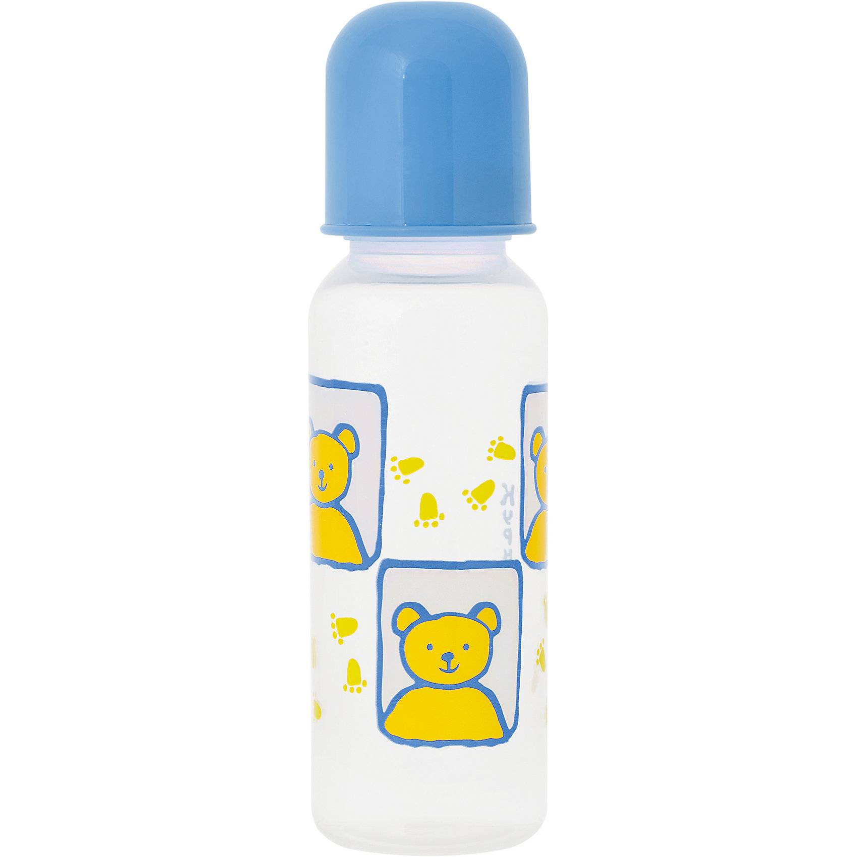 Бутылочка с крышкой и силиконовой соской, 250 мл, Kurnosiki, голубойБутылочки и аксессуары<br>Характеристики:<br><br>• Наименование: бутылка для кормления<br>• Рекомендуемый возраст: от 0 месяцев<br>• Пол: для мальчика<br>• Объем: 250 мл<br>• Материал: силикон, пластик<br>• Цвет: голубой<br>• Рисунок: медвежонок<br>• Форма соски: классическая<br>• Поток у соски: медленный<br>• Комплектация: бутылочка, соска, колпачок<br>• Узкое горлышко<br>• Вес: 90 г<br>• Можно использовать в СВЧ и посудомоечной машине<br>• Особенности ухода: регулярная стерилизация и своевременная замена соски<br><br>Бутылочка с крышкой и силиконовой соской, 250 мл, Kurnosiki, голубой выполнена из прочного и термостойкого пластика, на котором не появляются царапины и сколы. У бутылочки узкое горлышко. Силиконовая соска классической формы, не имеет цвета и запаха, обладает повышенными гипоаллергенными свойствами. <br><br>Изделие выполнено в стильном дизайне: на бутылочку нанесено брендовое изображение медвежонка. Рисунок устойчив к выцветанию и истиранию. Бутылочка с крышкой и силиконовой соской, 250 мл, Kurnosiki, голубой – это практичный и стильный предмет для кормления малыша!<br><br>Бутылочку с крышкой и силиконовой соской, 250 мл, Kurnosiki, голубой можно купить в нашем интернет-магазине.<br><br>Ширина мм: 55<br>Глубина мм: 75<br>Высота мм: 210<br>Вес г: 78<br>Возраст от месяцев: 0<br>Возраст до месяцев: 18<br>Пол: Мужской<br>Возраст: Детский<br>SKU: 5428794