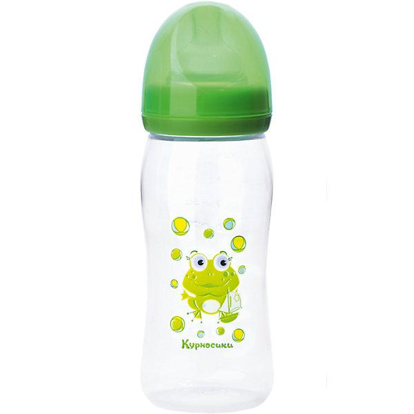 Бутылочка с силиконовой соской Мои первые друзья, 250 мл, Kurnosiki, зеленыйБутылочки и аксессуары<br>Характеристики:<br><br>• Наименование: бутылка для кормления<br>• Рекомендуемый возраст: от 0 месяцев<br>• Пол: универсальный<br>• Объем: 250 мл<br>• Материал: силикон, пластик<br>• Цвет: зеленый<br>• Рисунок: лягушонок Ква-Ква<br>• Форма соски: классическая<br>• Поток у соски: медленный<br>• Комплектация: бутылочка, соска, колпачок, ручки<br>• Широкое горлышко<br>• Вес: 100 г<br>• Можно использовать в СВЧ и посудомоечной машине<br>• Особенности ухода: регулярная стерилизация и своевременная замена соски<br><br>Бутылочка с силиконовой соской Мои первые друзья, 250 мл, Kurnosiki, зеленый выполнена из прочного и жароустойчивого пластика, на котором не появляются царапины и сколы. У бутылочки узкое горлышко. В комплекте предусмотрены съемные ручки, при помощи которых малышу удобно держать бутылочку в руках самостоятельно. Силиконовая соска классической формы, не имеет цвета и запаха, обладает повышенными гипоаллергенными свойствами. <br><br>Изделие выполнено в брендовом дизайне: на бутылочку нанесено изображение одного из героев серии Курносиков ? лягушонка Ква-Ква. Рисунок устойчив к выцветанию и истиранию. Бутылочка с силиконовой соской Мои первые друзья, 250 мл, Kurnosiki, зеленый – это практичный и стильный предмет для кормления малыша!<br><br>Бутылочку с силиконовой соской Мои первые друзья, 250 мл, Kurnosiki, зеленый можно купить в нашем интернет-магазине.<br><br>Ширина мм: 70<br>Глубина мм: 100<br>Высота мм: 200<br>Вес г: 92<br>Возраст от месяцев: 0<br>Возраст до месяцев: 18<br>Пол: Унисекс<br>Возраст: Детский<br>SKU: 5428798