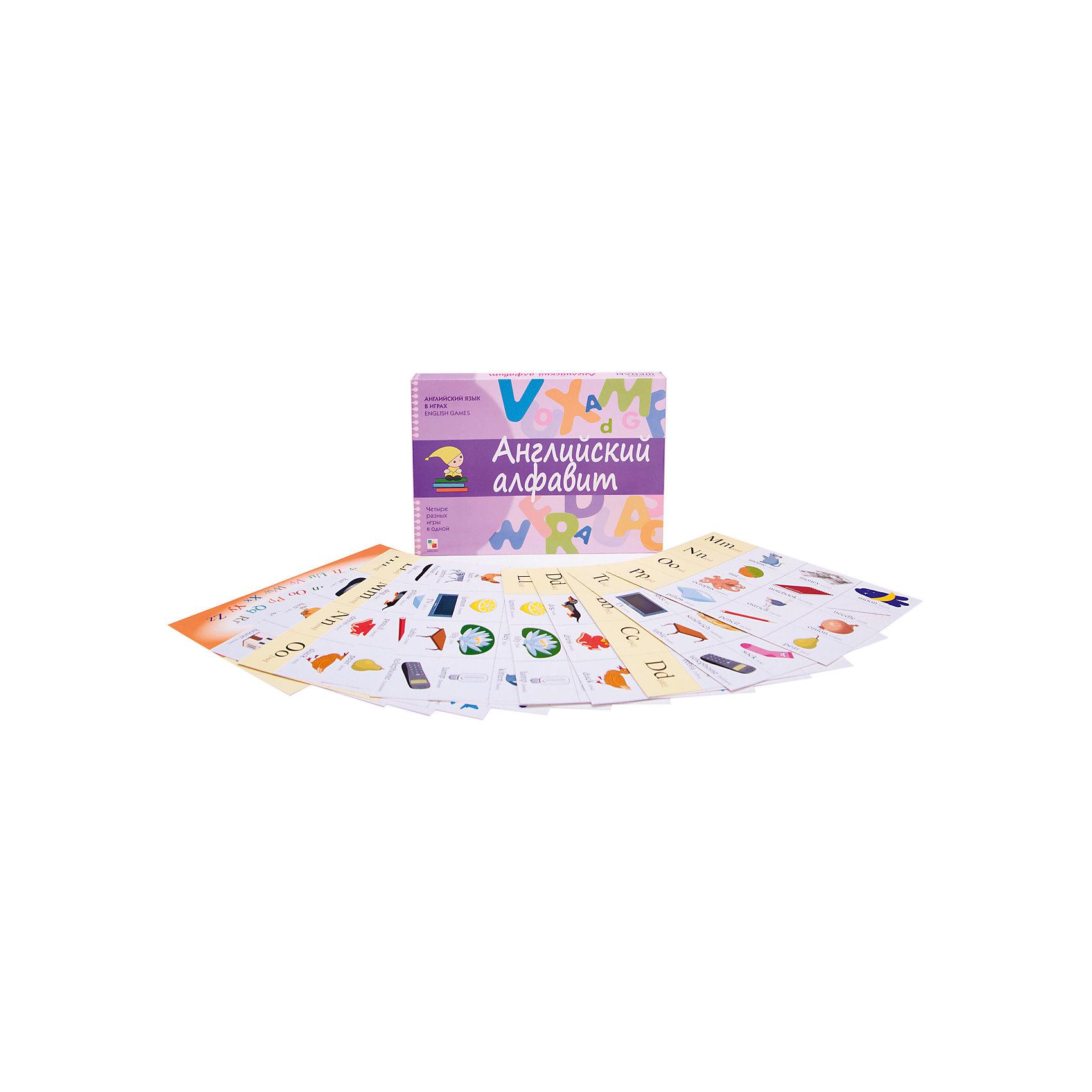Карточки Английский язык в играх: английский алфавит, Школа семи гномовИностранный язык<br>Пособие Английский язык в играх. Английский алфавит, Школа семи гномов.<br><br>Характеристики:<br><br>• Издательство: МОЗАИКА-СИНТЕЗ<br>• ISBN: 4640005840179<br>• Тип: Развивающие игры<br>• Возраст: 4-5 лет.<br>• Размер упаковки: 290х210х40мм.<br>• Вес: 264г.<br>Состав игры: 12 листов, содержащих 23 карты для лото, 69 маленьких карт с картинками, 23 маленьких карты с буквами, инструкция <br><br>Варианты игр с набором Алфавит Школа семи гномов:<br><br>ЛОТО ABC.<br>Игра научит узнавать английские слова и буквы. Ведущий берет по одной маленькой карточке, зачитывает слова или буквы, а участники закрывают их на большой карточке.<br><br>Английские слова.<br>Игра способствует быстрому воспроизведению английских слов. Участники должны как можно быстрее произнести по - английски то, что изображено на карточках, которые показывает им ведущий.<br><br>Алфавит<br>Игра ориентирована на закрепление знаний алфавита. Участникам раздаются карточки с буквами, на которую они должны подобрать карточки со словами.<br><br>Разложи картинки.<br>Игра учит запоминать и правильно воспроизводить слова. Участники раскладывают карточки по стопкам, чтобы в каждой из них слова начинались на одну и ту же букву.<br><br>Пособие Английский язык в играх. Английский алфавит, Школа семи гномов, можно купить в нашем интернет – магазине<br><br>Ширина мм: 40<br>Глубина мм: 290<br>Высота мм: 210<br>Вес г: 264<br>Возраст от месяцев: 60<br>Возраст до месяцев: 72<br>Пол: Унисекс<br>Возраст: Детский<br>SKU: 5428882