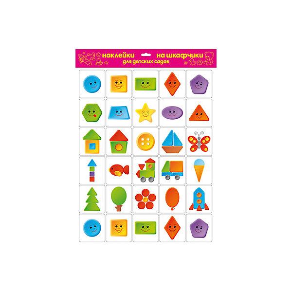 Наклейки на шкафчики Веселая геометрия, Мозаика-СинтезКнижки с наклейками<br>Наклейки на шкафчики Веселая геометрия, Мозаика-Синтез.<br><br>Характеристики:<br><br>• Издательство: МОЗАИКА-СИНТЕЗ<br>• ISBN: 9785431503399<br>• Тип: наклейки.<br>• Возраст: от 3-7 лет.<br>• Размер книги: 450х350 мм.<br>• В комплекте 75 наклеек, по 3 наклейки на человека, (1 большая и 2 маленьких).<br><br>Красочные наклейки для детского сада обязательно понравятся малышам, будут радовать их и помогут с лёгкостью находить свои шкафчики. Рассчитано на 25 человек.<br><br>Наклейки на шкафчики Веселая геометрия, Мозаика-Синтез, можно купить в нашем интернет – магазине.<br>Ширина мм: 1; Глубина мм: 350; Высота мм: 450; Вес г: 85; Возраст от месяцев: 0; Возраст до месяцев: 84; Пол: Унисекс; Возраст: Детский; SKU: 5428932;
