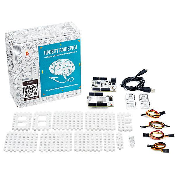 Набор для самостоятельной сборки «Технокуб, АмперкаНаборы для робототехники<br>Набор для самостоятельной сборки «Технокуб, Амперка.<br><br>Характеристики:<br><br>• Комплектация: платформа Iskra Neo, Troyka Shield, светодиод «Пиранья» (Troyka-модуль) красный 2 шт, светодиод «Пиранья» (Troyka-модуль), зелёный 2 шт, гайка М3 4 шт, винт М3 12 шт, набор деталей для сборки корпуса<br>• Размер упаковки: 19х17х4 см.<br><br>Если вы мечтаете самостоятельно собрать необычное устройство, которое сообщает вам о различных событиях в интернете или в вашем компьютере, «Технокуб» — самый простой способ претворить мечту в жизнь! С помощью набора для самостоятельной сборки «Технокуб» вы сможете сделать устройство, которое сообщит об интересном для вас событии. <br><br>Пришло электронное письмо? На автомобильных дорогах большие пробки? На улице возможны осадки? Пельмени сварились? Над вами пролетает МКС? Загрузка процессора превысила 100%? Если событие вас действительно интересует, с Технокубом вы его не пропустите. Собранный «Технокуб» умеет светиться красным или зелёным светом при наступлении интересующего события. Он основан на Arduino-совместимой плате Iskra Neo. <br><br>Это эквивалент Arduino Leonardo, который производится в России. В эту плату достаточно просто загрузить стандартный скетч Firmata. Специально разработанное, приложение Cube позволит вам легко управлять вашим Технокубом прямо с компьютера, а также узнавать о новом письме в вашем электронном ящике. Приложение написано на языке Python. Вы легко сможете модифицировать его, заставив оповещать о событиях, которые вас интересуют.<br><br>Набор для самостоятельной сборки «Технокуб, Амперка можно купить в нашем интернет-магазине.<br><br>Ширина мм: 190<br>Глубина мм: 170<br>Высота мм: 40<br>Вес г: 650<br>Возраст от месяцев: 120<br>Возраст до месяцев: 168<br>Пол: Унисекс<br>Возраст: Детский<br>SKU: 5428945
