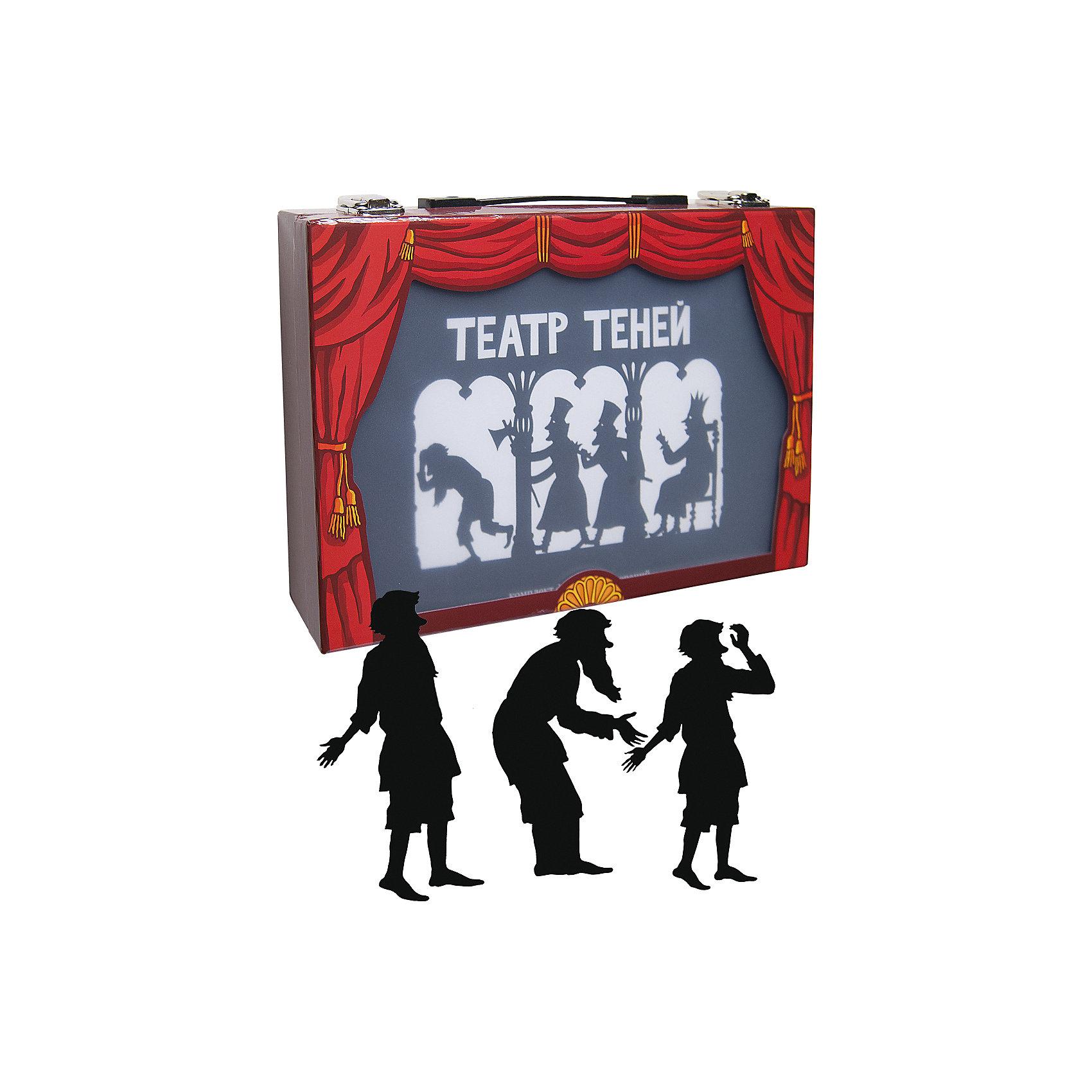 Театр тенейКнига со сценариями 66 страниц, Книга «ТЕАТР ТЕНЕЙ» 24 стр. с цветными иллюстрациями + Большой светодиодный фонарь для сцены (3 элемента питания АА; в набор не входят), 2 маленьких фонарика для декора, Набор из 24 фигурок, 40 деревянных палочек для вождения фигурок, 40 скрепок, Комплект декораций, афиши, билеты, монеты, 6 кнопок-братс для фигурок, Цветные кальки, 1 белая калька для экрана<br><br>Ширина мм: 330<br>Глубина мм: 65<br>Высота мм: 225<br>Вес г: 800<br>Возраст от месяцев: 36<br>Возраст до месяцев: 144<br>Пол: Унисекс<br>Возраст: Детский<br>SKU: 5429449