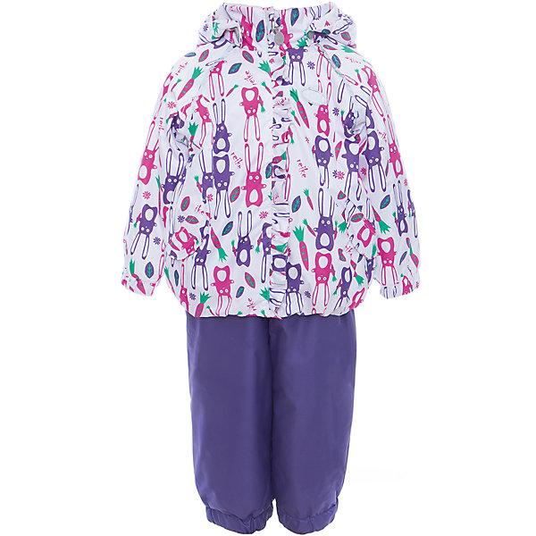 Комплект Reike для девочкиВерхняя одежда<br>Характеристики товара:<br><br>• цвет: белый/фиолетовый<br>• состав: 100% полиэстер<br>• подкладка: 100% хлопок, с комфортными велюровыми вставками на воротнике и манжетах<br>• утеплитель: 100% полиэстер; в куртке -60 гр., полукомбинезон без утеплителя<br>• температурный режим: от 0° С до +15° С<br>• из ветрозащитного, водонепроницаемого материала<br>• мембранная технология позволяет телу дышать<br>• воздухопроницаемость: 2000гр/м2/24 ч<br>• водоотталкивающее покрытие: 2000 мм<br>• ветрозащитная планка в виде рюши не допускает проникновения холодного воздуха<br>• эластичная талия полукомбинезона и регулируемые подтяжки гарантируют посадку по фигуре<br>• длинная молния впереди облегчает процесс одевания<br>• полукомбинезон оснащен боковым карманом на молнии и съемными штрипками<br>• съёмный капюшон<br>• два кармана на липучках<br>• эластичные манжеты на рукавах и внизу брючин<br>• светоотражающие детали<br>• страна бренда: Финляндия<br><br>Демисезонная одежда может быть очень красивой и удобной! Новая коллекция от известного финского производителя Reike отличается ярким дизайном, продуманностью и комфортом! Эта модель разработана специально для детей - она учитывает особенности их физиологии, а также новые тенденции в европейской моде. Стильная и удобная вещь!<br><br>Комплект от популярного бренда Reike можно купить в нашем интернет-магазине.<br><br>Ширина мм: 215<br>Глубина мм: 88<br>Высота мм: 191<br>Вес г: 336<br>Цвет: белый<br>Возраст от месяцев: 24<br>Возраст до месяцев: 36<br>Пол: Женский<br>Возраст: Детский<br>Размер: 98,80,86,92<br>SKU: 5429949