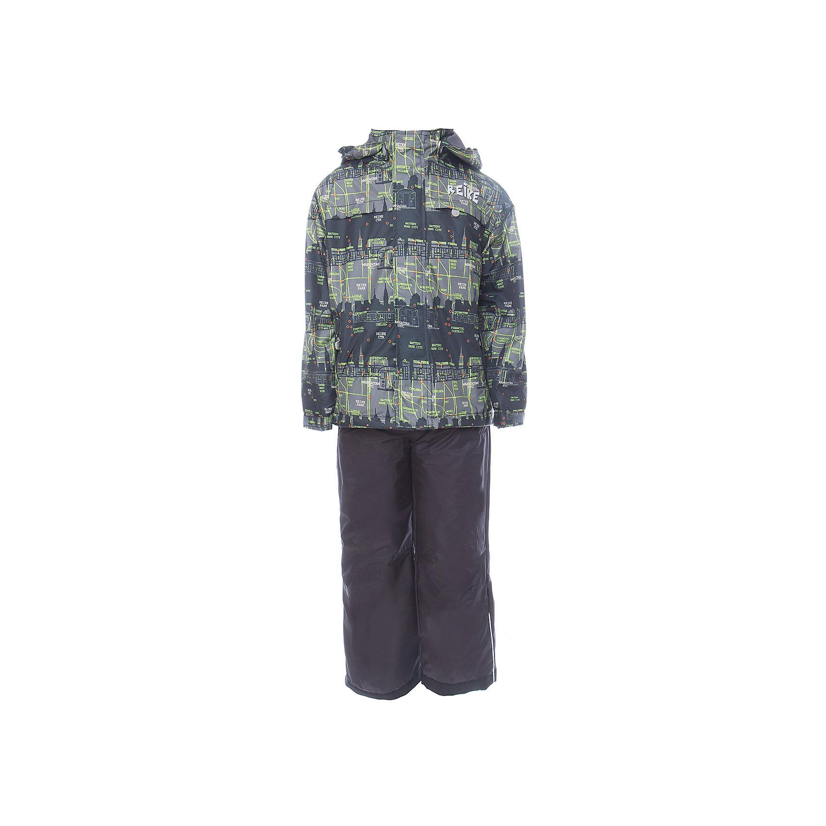 Комплект Reike для мальчикаОдежда<br>Характеристики товара:<br><br>• цвет: зелёный/чёрный<br>• состав: 100% полиэстер<br>• подкладка - 100% полиэстер со вставками из микрофлиса (спинка, грудь куртки)<br>• без утеплителя<br>• температурный режим: от +5° С до +15° С<br>• из ветрозащитного, водонепроницаемого материала<br>• мембранная технология позволяет телу дышать<br>• воздухопроницаемость: 2000гр/м2/24 ч<br>• водоотталкивающее покрытие: 2000 мм<br>• ветрозащитная планка на кнопках и липучках вдоль молнии не допустит проникновения холодного воздуха<br>• съёмный регулируемый капюшон<br>• куртка с двумя карманами на молнии<br>• завышенная талия и регулируемые подтяжки гарантируют посадку брюк по фигуре<br>• низ усилен защитой от истирания<br>• завышенные брюки оснащены светоотражателями, двумя боковыми карманами на молнии и съёмными штрипками<br>• манжеты рукавов на резинке дополнительно регулируются липучками<br>• страна бренда: Финляндия<br><br>Демисезонная одежда может быть очень красивой и удобной! Новая коллекция от известного финского производителя Reike отличается ярким дизайном, продуманностью и комфортом! Эта модель разработана специально для детей - она учитывает особенности их физиологии, а также новые тенденции в европейской моде. Стильная и удобная вещь!<br><br>Комплект для девочки от популярного бренда Reike можно купить в нашем интернет-магазине.<br><br>Ширина мм: 215<br>Глубина мм: 88<br>Высота мм: 191<br>Вес г: 336<br>Цвет: черный<br>Возраст от месяцев: 96<br>Возраст до месяцев: 108<br>Пол: Мужской<br>Возраст: Детский<br>Размер: 134,110,116,122,128<br>SKU: 5429993