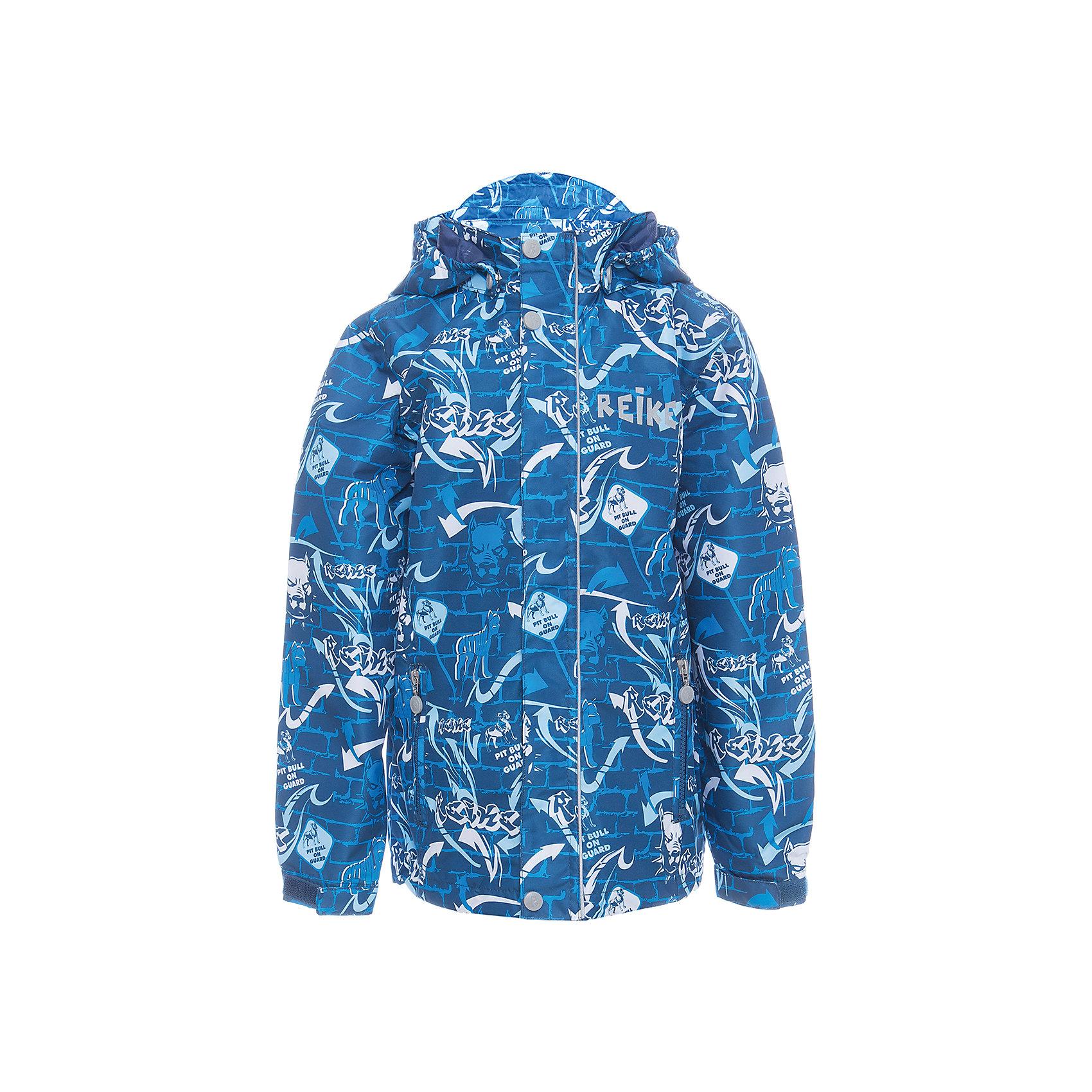 Куртка Reike для мальчикаОдежда<br>Характеристики товара:<br><br>• цвет: синий<br>• состав: 100% полиэстер<br>• подкладка: 100% полиэстер<br>• без утеплителя<br>• температурный режим: от +10° С до +20° С<br>• из ветрозащитного, водонепроницаемого материала<br>• позволяет телу дышать<br>• воздухопроницаемость: 2000гр/м2/24 ч<br>• водоотталкивающее покрытие: 2000 мм<br>• застежка: молния<br>• планка от ветра на кнопках<br>• съёмный капюшон на кнопках<br>• два кармана на молнии<br>• светоотражающий элемент<br>• манжеты на резинке дополнительно регулируются с помощью липучек<br>• страна бренда: Финляндия<br><br>Демисезонная одежда может быть очень красивой и удобной! Новая коллекция от известного финского производителя Reike отличается ярким дизайном, продуманностью и комфортом! Эта модель разработана специально для детей - она учитывает особенности их физиологии, а также новые тенденции в европейской моде. Стильная и удобная вещь!<br><br>Куртку для мальчика от популярного бренда Reike можно купить в нашем интернет-магазине.<br><br>Ширина мм: 356<br>Глубина мм: 10<br>Высота мм: 245<br>Вес г: 519<br>Цвет: синий<br>Возраст от месяцев: 108<br>Возраст до месяцев: 120<br>Пол: Мужской<br>Возраст: Детский<br>Размер: 140,146,152,128,134<br>SKU: 5430015