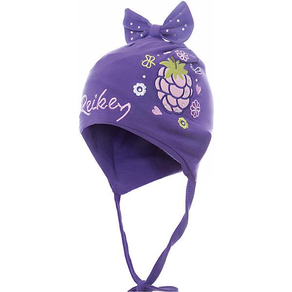 Шапка Reike для девочкиШапки и шарфы<br>Характеристики товара:<br><br>• цвет: фиолетовый<br>• состав: 100% хлопок<br>• подкладка: 100% хлопок<br>• температурный режим: от +5° С до +15° С<br>• завязки во всех размерах<br>• декорирована вышивкой и стразами<br>• декоративный бант наверху<br>• логотип Reike спереди<br>• страна бренда: Финляндия<br><br>Демисезонная одежда может быть очень красивой и удобной! Новая коллекция от известного финского производителя Reike отличается ярким дизайном, продуманностью и комфортом! Эта модель разработана специально для детей - она учитывает особенности их физиологии, а также новые тенденции в европейской моде. Стильная и удобная вещь!<br><br>Шапку для девочки от популярного бренда Reike можно купить в нашем интернет-магазине.<br>Ширина мм: 89; Глубина мм: 117; Высота мм: 44; Вес г: 155; Цвет: лиловый; Возраст от месяцев: 12; Возраст до месяцев: 18; Пол: Женский; Возраст: Детский; Размер: 48,46,50; SKU: 5430096;