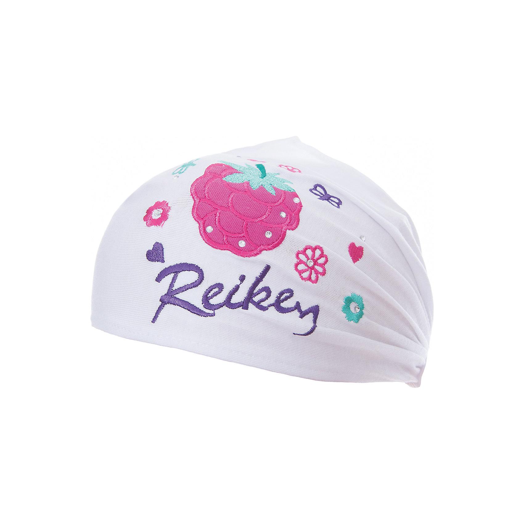 Повязка Reike для девочкиШапки и шарфы<br>Характеристики товара:<br><br>• цвет: белый<br>• состав: 100% хлопок<br>• стильный дизайн<br>• декорирована вышивкой и стразами<br>• мягкий материал<br>• страна бренда: Финляндия<br><br>Новая коллекция от известного финского производителя Reike отличается ярким дизайном, продуманностью и комфортом! Эта модель разработана специально для детей - она учитывает особенности их физиологии, а также новые тенденции в европейской моде. Стильная и удобная вещь!<br><br>Повязку для девочки от популярного бренда Reike можно купить в нашем интернет-магазине.<br><br>Ширина мм: 89<br>Глубина мм: 117<br>Высота мм: 44<br>Вес г: 155<br>Цвет: белый<br>Возраст от месяцев: 6<br>Возраст до месяцев: 9<br>Пол: Женский<br>Возраст: Детский<br>Размер: 46,50,48<br>SKU: 5430100