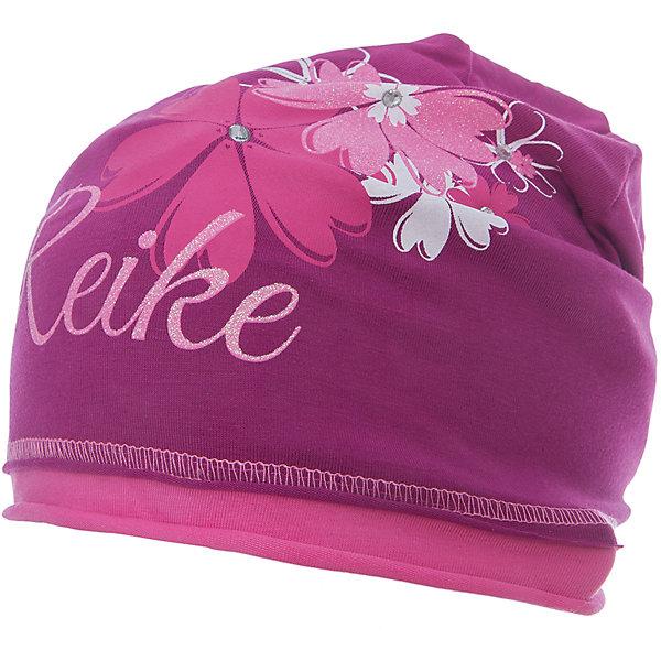 Шапка Reike для девочкиШапки и шарфы<br>Характеристики товара:<br><br>• цвет: бордовый<br>• состав: 97% хлопок, 3% полиуретан<br>• декорирована принтом и стразами<br>• мягкий материал<br>• страна бренда: Финляндия<br><br>Новая коллекция от известного финского производителя Reike отличается ярким дизайном, продуманностью и комфортом! Эта модель разработана специально для детей - она учитывает особенности их физиологии, а также новые тенденции в европейской моде. Она отлично сочетается с обувью разных цветов и фасонов. Стильная и удобная вещь!<br><br>Шапку для девочки от популярного бренда Reike можно купить в нашем интернет-магазине.<br><br>Ширина мм: 89<br>Глубина мм: 117<br>Высота мм: 44<br>Вес г: 155<br>Цвет: бордовый<br>Возраст от месяцев: 48<br>Возраст до месяцев: 60<br>Пол: Женский<br>Возраст: Детский<br>Размер: 56,54,52<br>SKU: 5430124