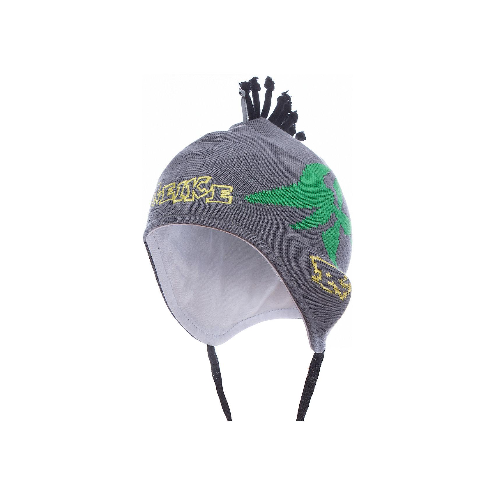 Шапка Reike для мальчикаШапки и шарфы<br>Характеристики товара:<br><br>• цвет: серый<br>• состав: 100% хлопок<br>• подкладка: 100% хлопок<br>• температурный режим: от +5° С до +15° С<br>• завязки во всех размерах<br>• декорирована вышивкой и вязаным узором<br>• декоративный ирокез наверху<br>• мягкий материал<br>• страна бренда: Финляндия<br><br>Демисезонная одежда может быть очень красивой и удобной! Новая коллекция от известного финского производителя Reike отличается ярким дизайном, продуманностью и комфортом! Эта модель разработана специально для детей - она учитывает особенности их физиологии, а также новые тенденции в европейской моде. Она отлично сочетается с обувью разных цветов и фасонов. Стильная и удобная вещь!<br><br>Шапку для мальчика от популярного бренда Reike можно купить в нашем интернет-магазине.<br><br>Ширина мм: 89<br>Глубина мм: 117<br>Высота мм: 44<br>Вес г: 155<br>Цвет: серый<br>Возраст от месяцев: 6<br>Возраст до месяцев: 9<br>Пол: Мужской<br>Возраст: Детский<br>Размер: 46,50,48<br>SKU: 5430132