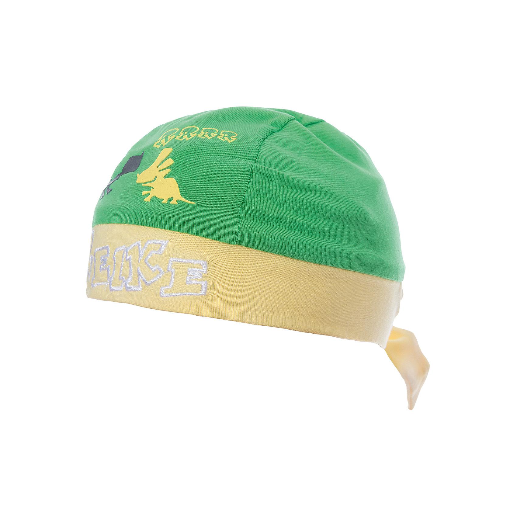 Бандана Reike для мальчикаШапки и шарфы<br>Характеристики товара:<br><br>• цвет: зелёный/жёлтый<br>• состав: 100% хлопок<br>• декорирована принтом и вышивкой<br>• мягкий материал<br>• страна бренда: Финляндия<br><br>Новая коллекция от известного финского производителя Reike отличается ярким дизайном, продуманностью и комфортом! Эта модель разработана специально для детей - она учитывает особенности их физиологии, а также новые тенденции в европейской моде. Она отлично сочетается с обувью разных цветов и фасонов. Стильная и удобная вещь!<br><br>Бандану для мальчика от популярного бренда Reike можно купить в нашем интернет-магазине.<br><br>Ширина мм: 89<br>Глубина мм: 117<br>Высота мм: 44<br>Вес г: 155<br>Цвет: голубой<br>Возраст от месяцев: 12<br>Возраст до месяцев: 18<br>Пол: Мужской<br>Возраст: Детский<br>Размер: 48,44,46<br>SKU: 5430160