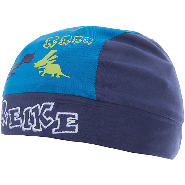 Бандана Reike для мальчикаШапочки<br>Характеристики товара:<br><br>• цвет: синий<br>• состав: 100% хлопок<br>• декорирована принтом и вышивкой<br>• мягкий материал<br>• страна бренда: Финляндия<br><br>Новая коллекция от известного финского производителя Reike отличается ярким дизайном, продуманностью и комфортом! Эта модель разработана специально для детей - она учитывает особенности их физиологии, а также новые тенденции в европейской моде. Она отлично сочетается с обувью разных цветов и фасонов. Стильная и удобная вещь!<br><br>Бандану для мальчика от популярного бренда Reike можно купить в нашем интернет-магазине.<br><br>Ширина мм: 89<br>Глубина мм: 117<br>Высота мм: 44<br>Вес г: 155<br>Цвет: темно-синий<br>Возраст от месяцев: 5<br>Возраст до месяцев: 6<br>Пол: Мужской<br>Возраст: Детский<br>Размер: 44,48,46<br>SKU: 5430164