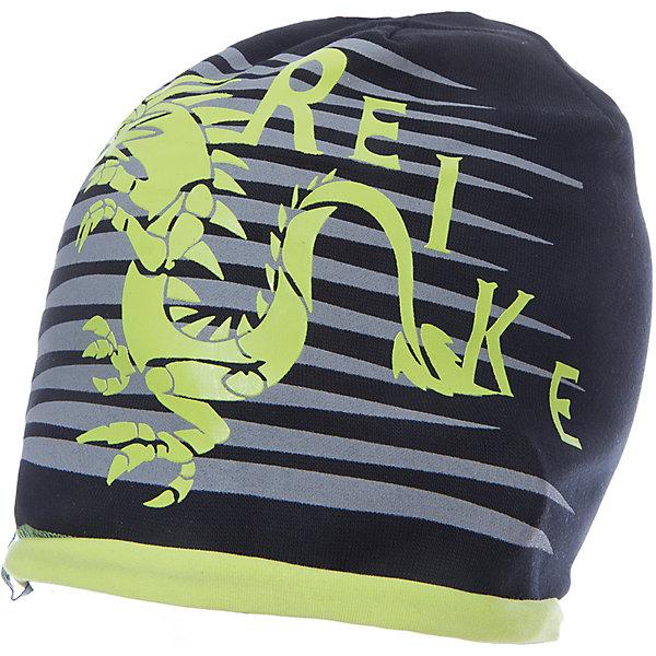 Шапка Reike для мальчикаШапки и шарфы<br>Характеристики товара:<br><br>• цвет: черный<br>• состав: 97% хлопок, 3% полиуретан<br>• декорирована принтом <br>• мягкий материал<br>• страна бренда: Финляндия<br>• страна изготовитель: Китай<br><br>Новая коллекция от известного финского производителя Reike отличается ярким дизайном, продуманностью и комфортом! Эта модель разработана специально для детей - она учитывает особенности их физиологии, а также новые тенденции в европейской моде. Она отлично сочетается с обувью разных цветов и фасонов. Стильная и удобная вещь!<br><br>Шапку для мальчика от популярного бренда Reike можно купить в нашем интернет-магазине.<br><br>Ширина мм: 89<br>Глубина мм: 117<br>Высота мм: 44<br>Вес г: 155<br>Цвет: черный<br>Возраст от месяцев: 24<br>Возраст до месяцев: 36<br>Пол: Мужской<br>Возраст: Детский<br>Размер: 50,54,52<br>SKU: 5430168