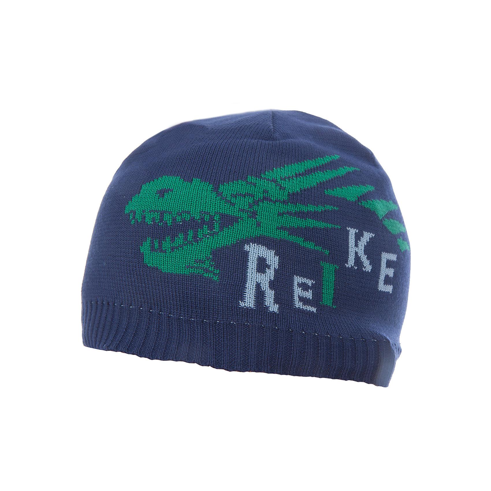 Шапка Reike для мальчикаШапки и шарфы<br>Характеристики товара:<br><br>• цвет: синий<br>• состав: 97% хлопок, 3% полиуретан<br>• декорирована принтом <br>• мягкий материал<br>• страна бренда: Финляндия<br><br>Новая коллекция от известного финского производителя Reike отличается ярким дизайном, продуманностью и комфортом! Эта модель разработана специально для детей - она учитывает особенности их физиологии, а также новые тенденции в европейской моде. Она отлично сочетается с обувью разных цветов и фасонов. Стильная и удобная вещь!<br><br>Шапку для мальчика от популярного бренда Reike можно купить в нашем интернет-магазине.<br><br>Ширина мм: 89<br>Глубина мм: 117<br>Высота мм: 44<br>Вес г: 155<br>Цвет: полуночно-синий<br>Возраст от месяцев: 24<br>Возраст до месяцев: 36<br>Пол: Мужской<br>Возраст: Детский<br>Размер: 50,54,52<br>SKU: 5430176