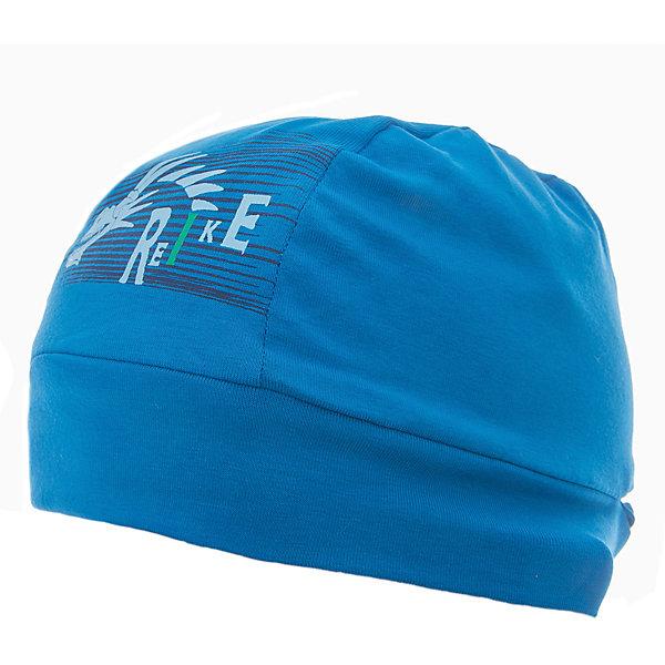 Бандана Reike для мальчикаШапки и шарфы<br>Характеристики товара:<br><br>• цвет: синий<br>• состав: 100% хлопок<br>• без подкладки<br>• температурный режим: от +10С до +20С<br>• декорирована принтом <br>• мягкий материал<br>• страна бренда: Финляндия<br><br>Новая коллекция от известного финского производителя Reike отличается ярким дизайном, продуманностью и комфортом! Эта модель разработана специально для детей - она учитывает особенности их физиологии, а также новые тенденции в европейской моде. Она отлично сочетается с обувью разных цветов и фасонов. Стильная и удобная вещь!<br><br>Бандану для мальчика от популярного бренда Reike можно купить в нашем интернет-магазине.<br>Ширина мм: 89; Глубина мм: 117; Высота мм: 44; Вес г: 155; Цвет: синий; Возраст от месяцев: 24; Возраст до месяцев: 36; Пол: Мужской; Возраст: Детский; Размер: 50,54,52; SKU: 5430180;