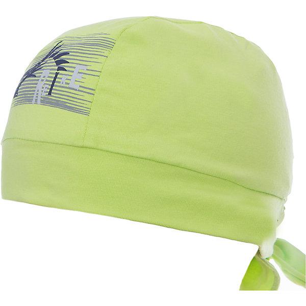 Бандана Reike для мальчикаШапки и шарфы<br>Характеристики товара:<br><br>• цвет: салатовый<br>• состав: 100% хлопок<br>• декорирована принтом <br>• мягкий материал<br>• страна бренда: Финляндия<br><br>Новая коллекция от известного финского производителя Reike отличается ярким дизайном, продуманностью и комфортом! Эта модель разработана специально для детей - она учитывает особенности их физиологии, а также новые тенденции в европейской моде. Она отлично сочетается с обувью разных цветов и фасонов. Стильная и удобная вещь!<br><br>Бандану для мальчика от популярного бренда Reike можно купить в нашем интернет-магазине.<br><br>Ширина мм: 89<br>Глубина мм: 117<br>Высота мм: 44<br>Вес г: 155<br>Цвет: зеленый<br>Возраст от месяцев: 48<br>Возраст до месяцев: 60<br>Пол: Мужской<br>Возраст: Детский<br>Размер: 52,50,54<br>SKU: 5430184