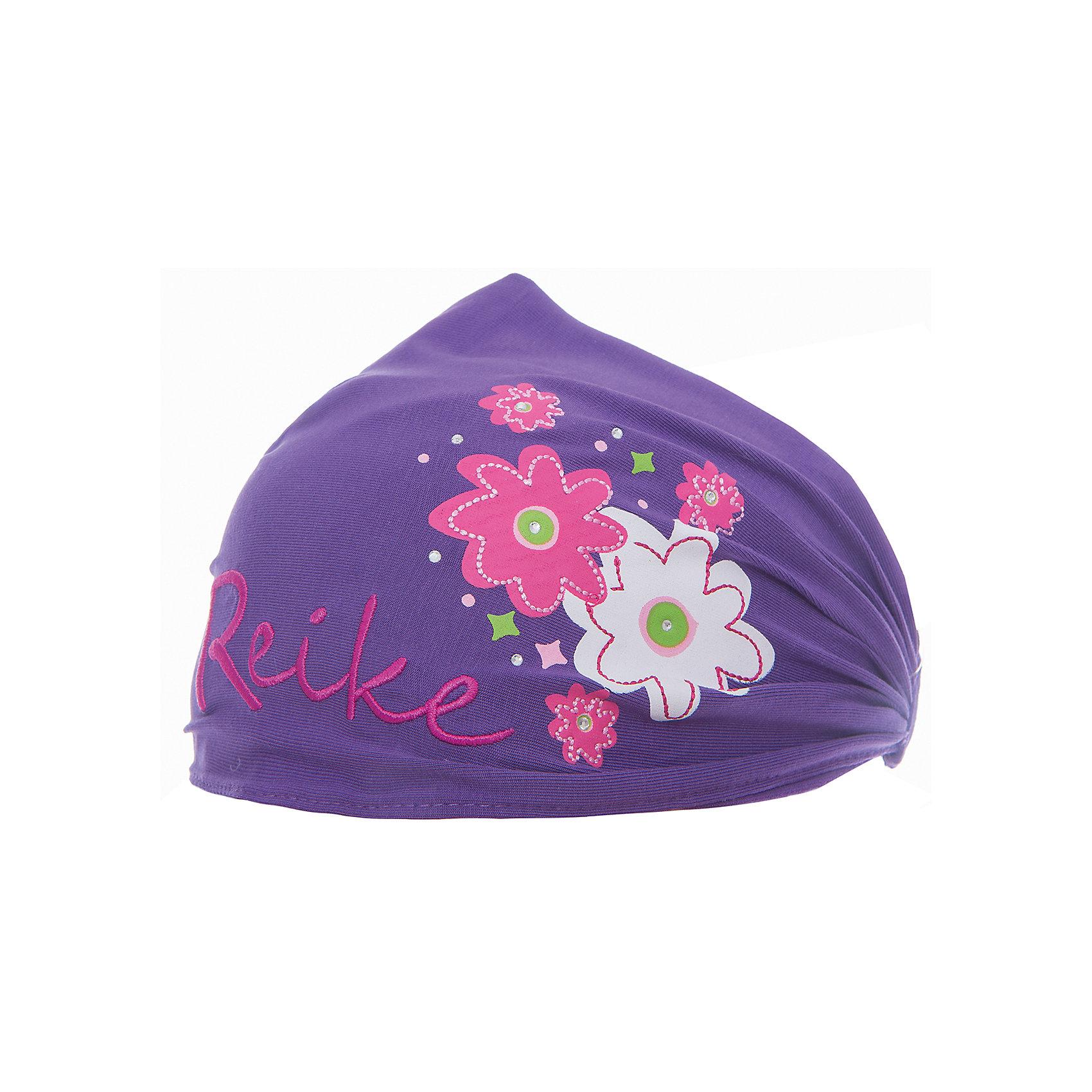 Повязка Reike для девочкиШапки и шарфы<br>Характеристики товара:<br><br>• цвет: фиолетовый<br>• состав: 100% хлопок<br>• декорирована принтом и стразами<br>• мягкий материал<br>• страна бренда: Финляндия<br><br>Новая коллекция от известного финского производителя Reike отличается ярким дизайном, продуманностью и комфортом! Эта модель разработана специально для детей - она учитывает особенности их физиологии, а также новые тенденции в европейской моде. Она отлично сочетается с обувью разных цветов и фасонов. Стильная и удобная вещь!<br><br>Повязку для девочки от популярного бренда Reike можно купить в нашем интернет-магазине.<br><br>Ширина мм: 89<br>Глубина мм: 117<br>Высота мм: 44<br>Вес г: 155<br>Цвет: лиловый<br>Возраст от месяцев: 12<br>Возраст до месяцев: 18<br>Пол: Женский<br>Возраст: Детский<br>Размер: 48,52,50<br>SKU: 5430192