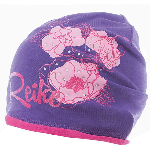 Шапка Reike для девочкиШапки и шарфы<br>Характеристики товара:<br><br>• цвет: фиолетовый<br>• состав: 97% хлопок, 3% полиуретан<br>• без подкладки<br>• температурный режим: от +7С до +15С<br>• декорирована принтом и стразами<br>• мягкий материал<br>• страна бренда: Финляндия<br><br>Новая коллекция от известного финского производителя Reike отличается ярким дизайном, продуманностью и комфортом! Эта модель разработана специально для детей - она учитывает особенности их физиологии, а также новые тенденции в европейской моде. Она отлично сочетается с обувью разных цветов и фасонов. Стильная и удобная вещь!<br><br>Шапку для девочки от популярного бренда Reike можно купить в нашем интернет-магазине.<br><br>Ширина мм: 89<br>Глубина мм: 117<br>Высота мм: 44<br>Вес г: 155<br>Цвет: лиловый<br>Возраст от месяцев: 72<br>Возраст до месяцев: 84<br>Пол: Женский<br>Возраст: Детский<br>Размер: 54,52,56<br>SKU: 5430202