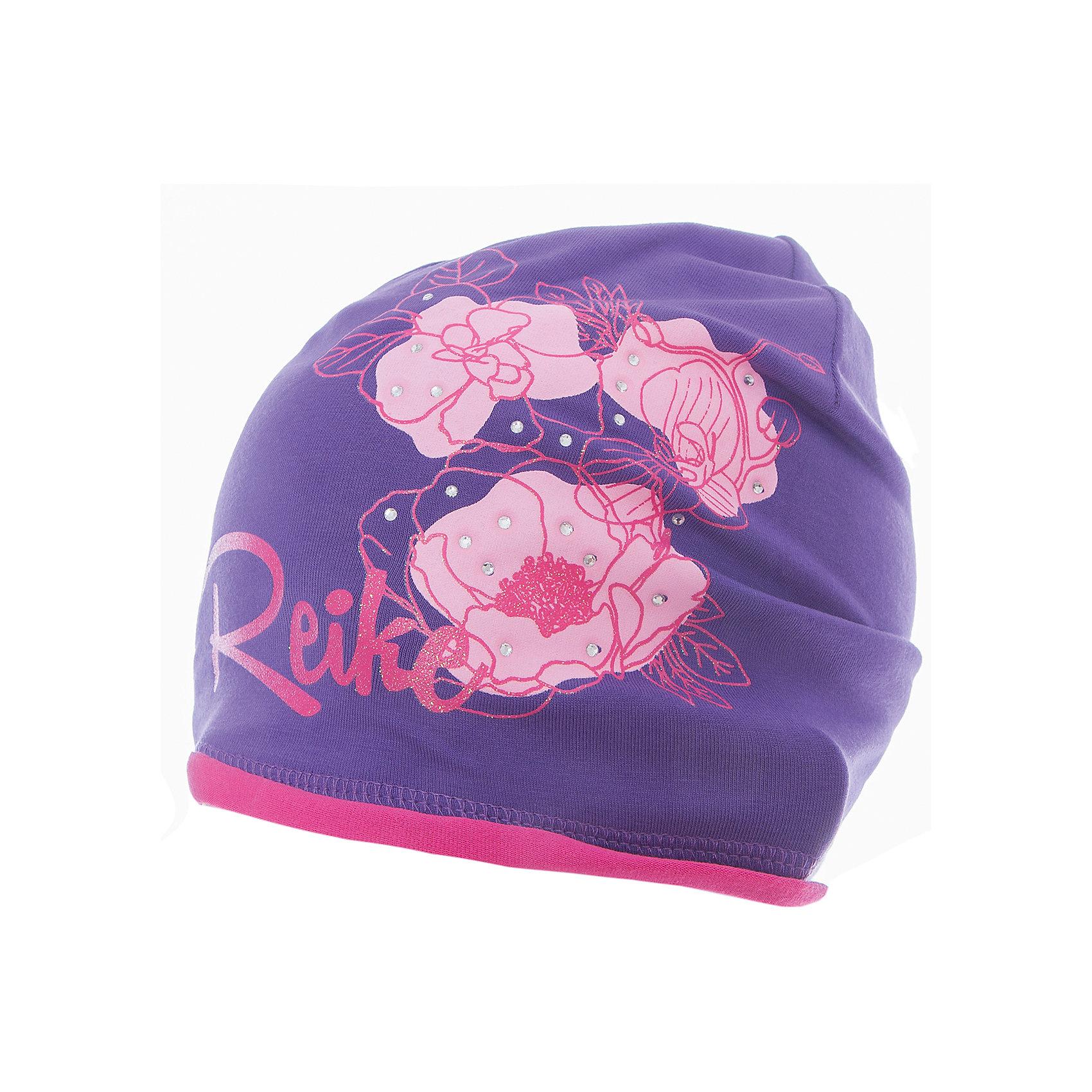Шапка Reike для девочкиШапки и шарфы<br>Характеристики товара:<br><br>• цвет: фиолетовый<br>• состав: 97% хлопок, 3% полиуретан<br>• без подкладки<br>• температурный режим: от +7С до +15С<br>• декорирована принтом и стразами<br>• мягкий материал<br>• страна бренда: Финляндия<br><br>Новая коллекция от известного финского производителя Reike отличается ярким дизайном, продуманностью и комфортом! Эта модель разработана специально для детей - она учитывает особенности их физиологии, а также новые тенденции в европейской моде. Она отлично сочетается с обувью разных цветов и фасонов. Стильная и удобная вещь!<br><br>Шапку для девочки от популярного бренда Reike можно купить в нашем интернет-магазине.<br><br>Ширина мм: 89<br>Глубина мм: 117<br>Высота мм: 44<br>Вес г: 155<br>Цвет: лиловый<br>Возраст от месяцев: 0<br>Возраст до месяцев: 3<br>Пол: Женский<br>Возраст: Детский<br>Размер: 56,52,54<br>SKU: 5430202