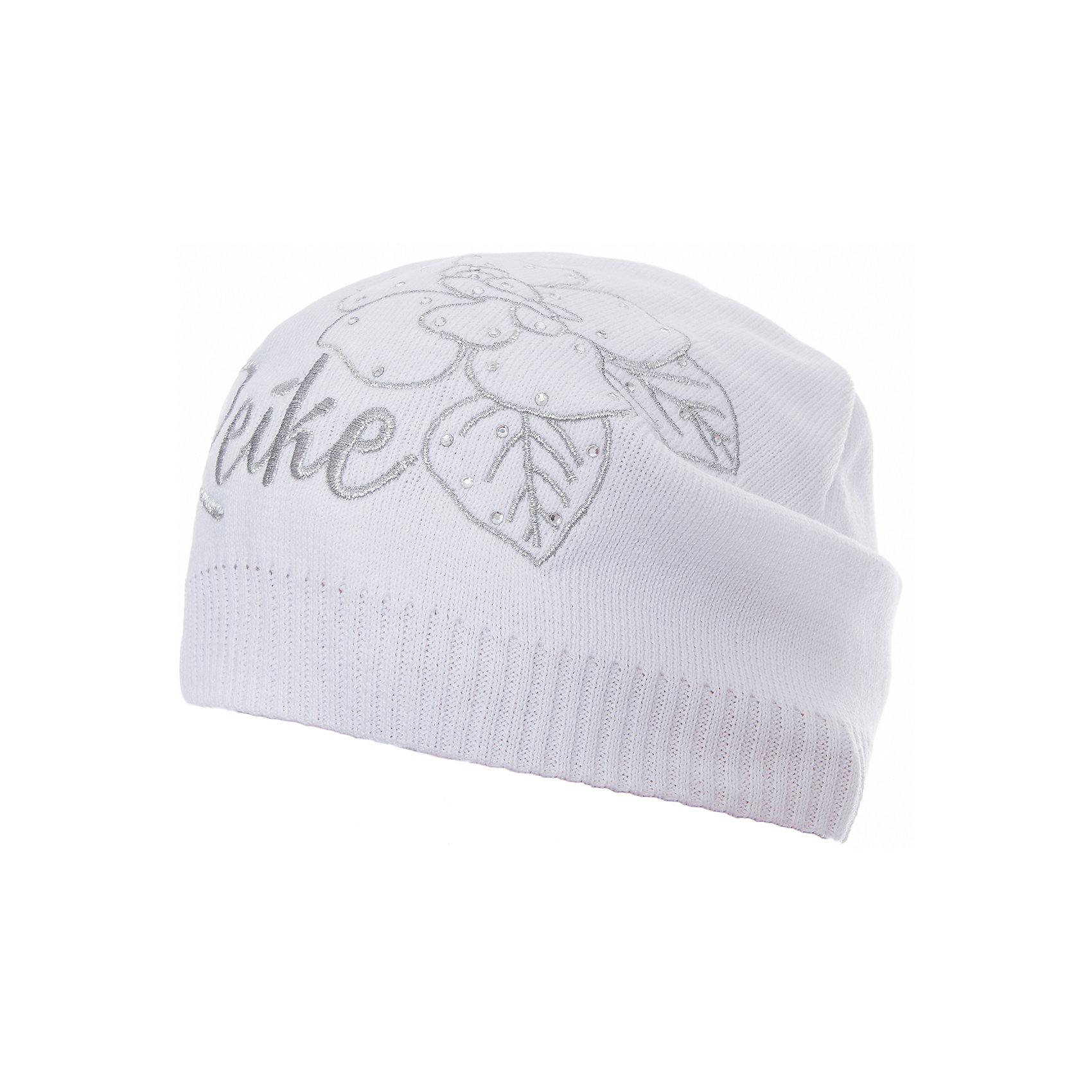 Шапка Reike для девочкиШапки и шарфы<br>Характеристики товара:<br><br>• цвет: белый<br>• состав: 97% хлопок, 3% полиуретан<br>• без подкладки<br>• температурный режим: от +7С до +15С<br>• декорирована вышивкой и стразами<br>• мягкий материал<br>• страна бренда: Финляндия<br><br>Новая коллекция от известного финского производителя Reike отличается ярким дизайном, продуманностью и комфортом! Эта модель разработана специально для детей - она учитывает особенности их физиологии, а также новые тенденции в европейской моде. Она отлично сочетается с обувью разных цветов и фасонов. Стильная и удобная вещь!<br><br>Шапку для девочки от популярного бренда Reike можно купить в нашем интернет-магазине.<br><br>Ширина мм: 89<br>Глубина мм: 117<br>Высота мм: 44<br>Вес г: 155<br>Цвет: белый<br>Возраст от месяцев: 72<br>Возраст до месяцев: 84<br>Пол: Женский<br>Возраст: Детский<br>Размер: 54,56,52<br>SKU: 5430206