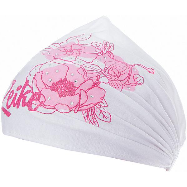 Повязка Reike для девочкиШапки и шарфы<br>Характеристики товара:<br><br>• цвет: белый<br>• состав: 100% хлопок<br>• декорирована принтом и стразами<br>• мягкий материал<br>• страна бренда: Финляндия<br><br>Новая коллекция от известного финского производителя Reike отличается ярким дизайном, продуманностью и комфортом! Эта модель разработана специально для детей - она учитывает особенности их физиологии, а также новые тенденции в европейской моде. Она отлично сочетается с обувью разных цветов и фасонов. Стильная и удобная вещь!<br><br>Повязку для девочки от популярного бренда Reike можно купить в нашем интернет-магазине.<br><br>Ширина мм: 89<br>Глубина мм: 117<br>Высота мм: 44<br>Вес г: 155<br>Цвет: белый<br>Возраст от месяцев: 72<br>Возраст до месяцев: 84<br>Пол: Женский<br>Возраст: Детский<br>Размер: 54,56<br>SKU: 5430210