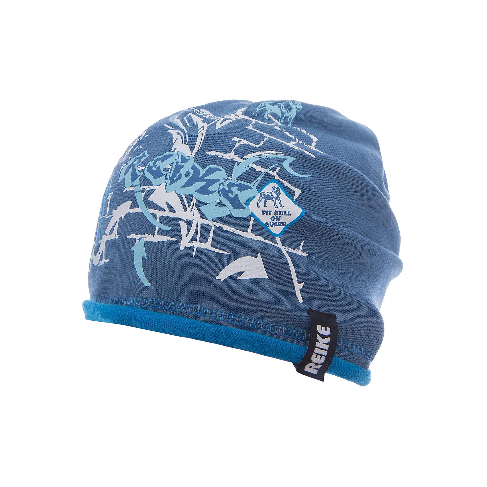 Шапка Reike для мальчикаШапки и шарфы<br>Характеристики товара:<br><br>• цвет: синий<br>• состав: 97% хлопок, 3% полиуретан<br>• без подкладки<br>• температурный режим: от +7С до +15С<br>• декорирована принтом <br>• мягкий материал<br>• страна бренда: Финляндия<br><br>Новая коллекция от известного финского производителя Reike отличается ярким дизайном, продуманностью и комфортом! Эта модель разработана специально для детей - она учитывает особенности их физиологии, а также новые тенденции в европейской моде. Она отлично сочетается с обувью разных цветов и фасонов. Стильная и удобная вещь!<br><br>Шапку для мальчика от популярного бренда Reike можно купить в нашем интернет-магазине.<br><br>Ширина мм: 89<br>Глубина мм: 117<br>Высота мм: 44<br>Вес г: 155<br>Цвет: голубой<br>Возраст от месяцев: 0<br>Возраст до месяцев: 3<br>Пол: Мужской<br>Возраст: Детский<br>Размер: 56,54<br>SKU: 5430213