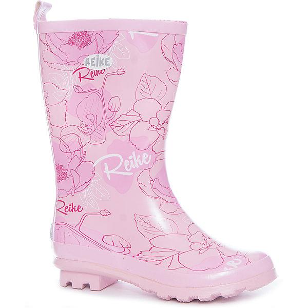 Резиновые сапоги для девочки ReikeОбувь<br>Характеристики товара:<br><br>• цвет: розовый<br>• внешний материал: резина<br>• внутренний материал: текстиль<br>• стелька: текстиль<br>• подошва: резина<br>• температурный режим: от +5С до +15С<br>• без внутреннего съёмного сапожка<br>• небольшой каблучок<br>• устойчивая подошва<br>• страна бренда: Финляндия<br><br>Новая коллекция от известного финского производителя Reike отличается ярким дизайном, продуманностью и комфортом! Эта модель разработана специально для детей - она учитывает особенности их физиологии, а также новые тенденции в европейской моде. Отлично сочетается с одеждой разных цветов и фасонов. Стильная и удобная вещь!<br><br>Сапоги резиновые для девочки от популярного бренда Reike можно купить в нашем интернет-магазине.<br><br>Ширина мм: 237<br>Глубина мм: 180<br>Высота мм: 152<br>Вес г: 438<br>Цвет: розовый<br>Возраст от месяцев: 120<br>Возраст до месяцев: 132<br>Пол: Женский<br>Возраст: Детский<br>Размер: 34,37,36,35<br>SKU: 5430320