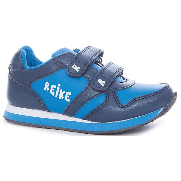 Кроссовки для мальчика ReikeОбувь<br>Характеристики товара:<br><br>• цвет: тёмно-синий/голубой<br>• внешний материал: искусственная кожа<br>• внутренний материал: текстиль<br>• стелька: текстиль<br>• подошва: ЭВА<br>• облегчённая модель<br>• усиленный защищённый мыс и пятка<br>• застежка: два ремешка с липучкой<br>• устойчивая подошва<br>• страна бренда: Финляндия<br><br>Новая коллекция от известного финского производителя Reike отличается ярким дизайном, продуманностью и комфортом! Эта модель разработана специально для детей - она учитывает особенности их физиологии, а также новые тенденции в европейской моде. Стильная и удобная вещь!<br><br>Полуботинки от популярного бренда Reike можно купить в нашем интернет-магазине.<br>Ширина мм: 262; Глубина мм: 176; Высота мм: 97; Вес г: 427; Цвет: синий; Возраст от месяцев: 24; Возраст до месяцев: 24; Пол: Мужской; Возраст: Детский; Размер: 25,30,29,28,27,26; SKU: 5430503;