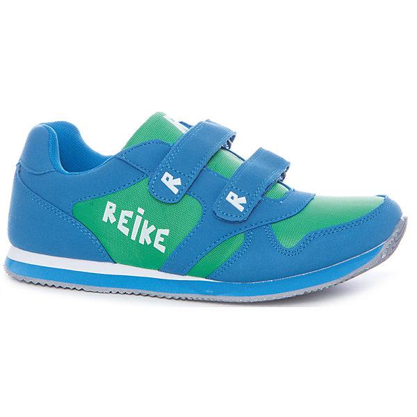 Кроссовки для мальчика ReikeОбувь<br>Характеристики товара:<br><br>• цвет: голубой/зелёный<br>• внешний материал: искусственная кожа, текстиль<br>• внутренний материал: текстиль<br>• стелька: текстиль<br>• подошва: ЭВА<br>• облегчённая модель<br>• усиленный защищённый мыс и пятка<br>• застежка: два ремешка с липучкой<br>• устойчивая подошва<br>• страна бренда: Финляндия<br><br>Новая коллекция от известного финского производителя Reike отличается ярким дизайном, продуманностью и комфортом! Эта модель разработана специально для детей - она учитывает особенности их физиологии, а также новые тенденции в европейской моде. Стильная и удобная вещь!<br><br>Полуботинки от популярного бренда Reike можно купить в нашем интернет-магазине.<br><br>Ширина мм: 262<br>Глубина мм: 176<br>Высота мм: 97<br>Вес г: 427<br>Цвет: синий<br>Возраст от месяцев: 144<br>Возраст до месяцев: 156<br>Пол: Мужской<br>Возраст: Детский<br>Размер: 31,32,33,34,35,36<br>SKU: 5430510