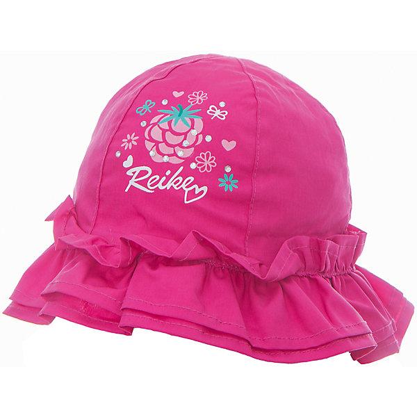 Панама Reike для девочкиШапки и шарфы<br>Характеристики товара:<br><br>• цвет: фуксия<br>• состав: 100% хлопок<br>• декорирована принтом и оборками<br>• мягкий материал<br>• страна бренда: Финляндия<br><br>Новая коллекция от известного финского производителя Reike отличается ярким дизайном, продуманностью и комфортом! Эта модель разработана специально для детей - она учитывает особенности их физиологии, а также новые тенденции в европейской моде. Стильная и удобная вещь!<br><br>Панаму для девочки от популярного бренда Reike можно купить в нашем интернет-магазине.<br><br>Ширина мм: 89<br>Глубина мм: 117<br>Высота мм: 44<br>Вес г: 155<br>Цвет: фуксия<br>Возраст от месяцев: 6<br>Возраст до месяцев: 9<br>Пол: Женский<br>Возраст: Детский<br>Размер: 46,50,48<br>SKU: 5430524