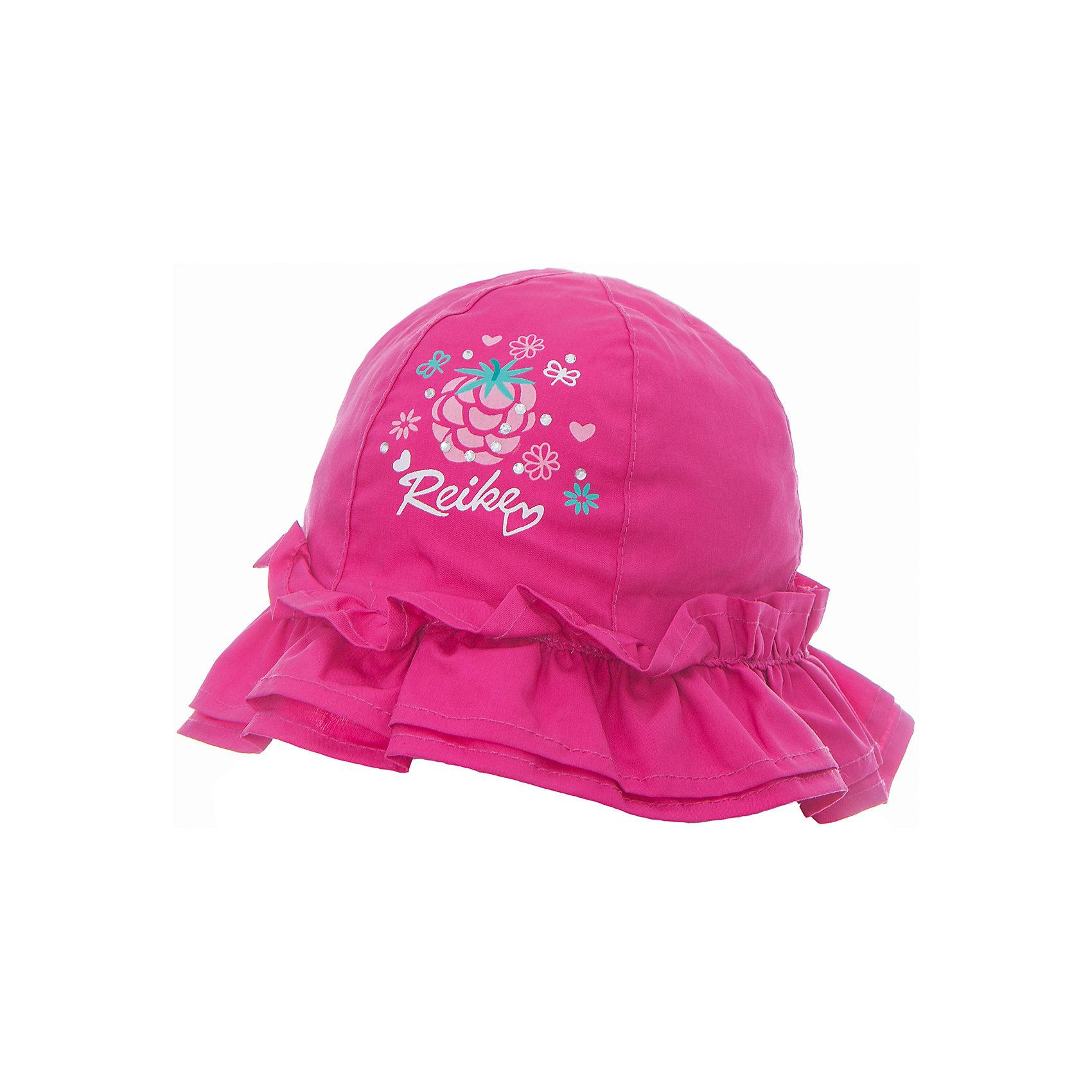 Панама Reike для девочкиШапочки<br>Характеристики товара:<br><br>• цвет: фуксия<br>• состав: 100% хлопок<br>• декорирована принтом и оборками<br>• мягкий материал<br>• страна бренда: Финляндия<br><br>Новая коллекция от известного финского производителя Reike отличается ярким дизайном, продуманностью и комфортом! Эта модель разработана специально для детей - она учитывает особенности их физиологии, а также новые тенденции в европейской моде. Стильная и удобная вещь!<br><br>Панаму для девочки от популярного бренда Reike можно купить в нашем интернет-магазине.<br><br>Ширина мм: 89<br>Глубина мм: 117<br>Высота мм: 44<br>Вес г: 155<br>Цвет: фуксия<br>Возраст от месяцев: 6<br>Возраст до месяцев: 9<br>Пол: Женский<br>Возраст: Детский<br>Размер: 46,50,48<br>SKU: 5430524