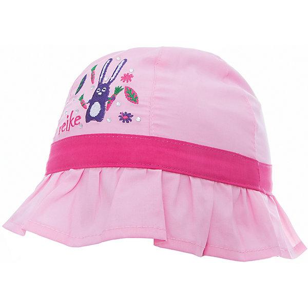 Панама Reike для девочкиШапки и шарфы<br>Характеристики товара:<br><br>• цвет: розовый<br>• состав: 100% хлопок<br>• декорирована вышивкой и стразами<br>• мягкий материал<br>• страна бренда: Финляндия<br><br>Новая коллекция от известного финского производителя Reike отличается ярким дизайном, продуманностью и комфортом! Эта модель разработана специально для детей - она учитывает особенности их физиологии, а также новые тенденции в европейской моде. Стильная и удобная вещь!<br><br>Панаму для девочки от популярного бренда Reike можно купить в нашем интернет-магазине.<br>Ширина мм: 89; Глубина мм: 117; Высота мм: 44; Вес г: 155; Цвет: розовый; Возраст от месяцев: 12; Возраст до месяцев: 18; Пол: Женский; Возраст: Детский; Размер: 48,46,50; SKU: 5430540;