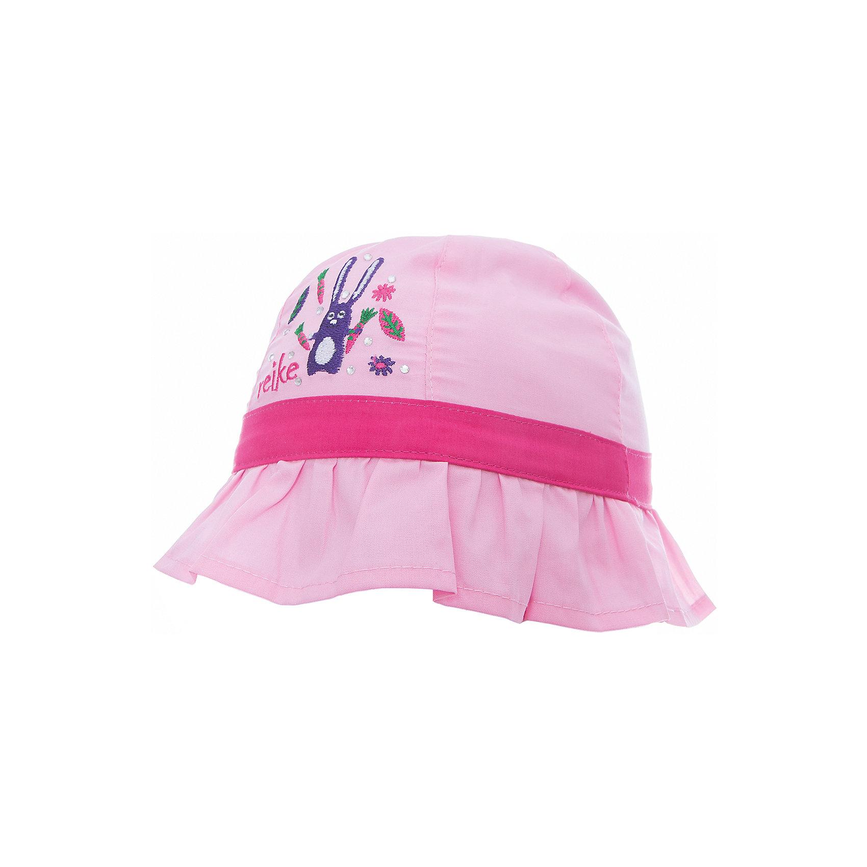 Панама Reike для девочкиШапки и шарфы<br>Характеристики товара:<br><br>• цвет: розовый<br>• состав: 100% хлопок<br>• декорирована вышивкой и стразами<br>• мягкий материал<br>• страна бренда: Финляндия<br><br>Новая коллекция от известного финского производителя Reike отличается ярким дизайном, продуманностью и комфортом! Эта модель разработана специально для детей - она учитывает особенности их физиологии, а также новые тенденции в европейской моде. Стильная и удобная вещь!<br><br>Панаму для девочки от популярного бренда Reike можно купить в нашем интернет-магазине.<br><br>Ширина мм: 89<br>Глубина мм: 117<br>Высота мм: 44<br>Вес г: 155<br>Цвет: розовый<br>Возраст от месяцев: 6<br>Возраст до месяцев: 9<br>Пол: Женский<br>Возраст: Детский<br>Размер: 46,50,48<br>SKU: 5430540