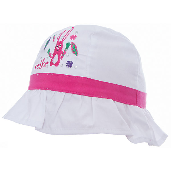 Панама Reike для девочкиШапки и шарфы<br>Характеристики товара:<br><br>• цвет: белый<br>• состав: 100% хлопок<br>• декорирована вышивкой и стразами<br>• мягкий материал<br>• страна бренда: Финляндия<br><br>Новая коллекция от известного финского производителя Reike отличается ярким дизайном, продуманностью и комфортом! Эта модель разработана специально для детей - она учитывает особенности их физиологии, а также новые тенденции в европейской моде. Стильная и удобная вещь!<br><br>Панаму для девочки от популярного бренда Reike можно купить в нашем интернет-магазине.<br>Ширина мм: 89; Глубина мм: 117; Высота мм: 44; Вес г: 155; Цвет: белый; Возраст от месяцев: 6; Возраст до месяцев: 9; Пол: Женский; Возраст: Детский; Размер: 46,50,48; SKU: 5430544;