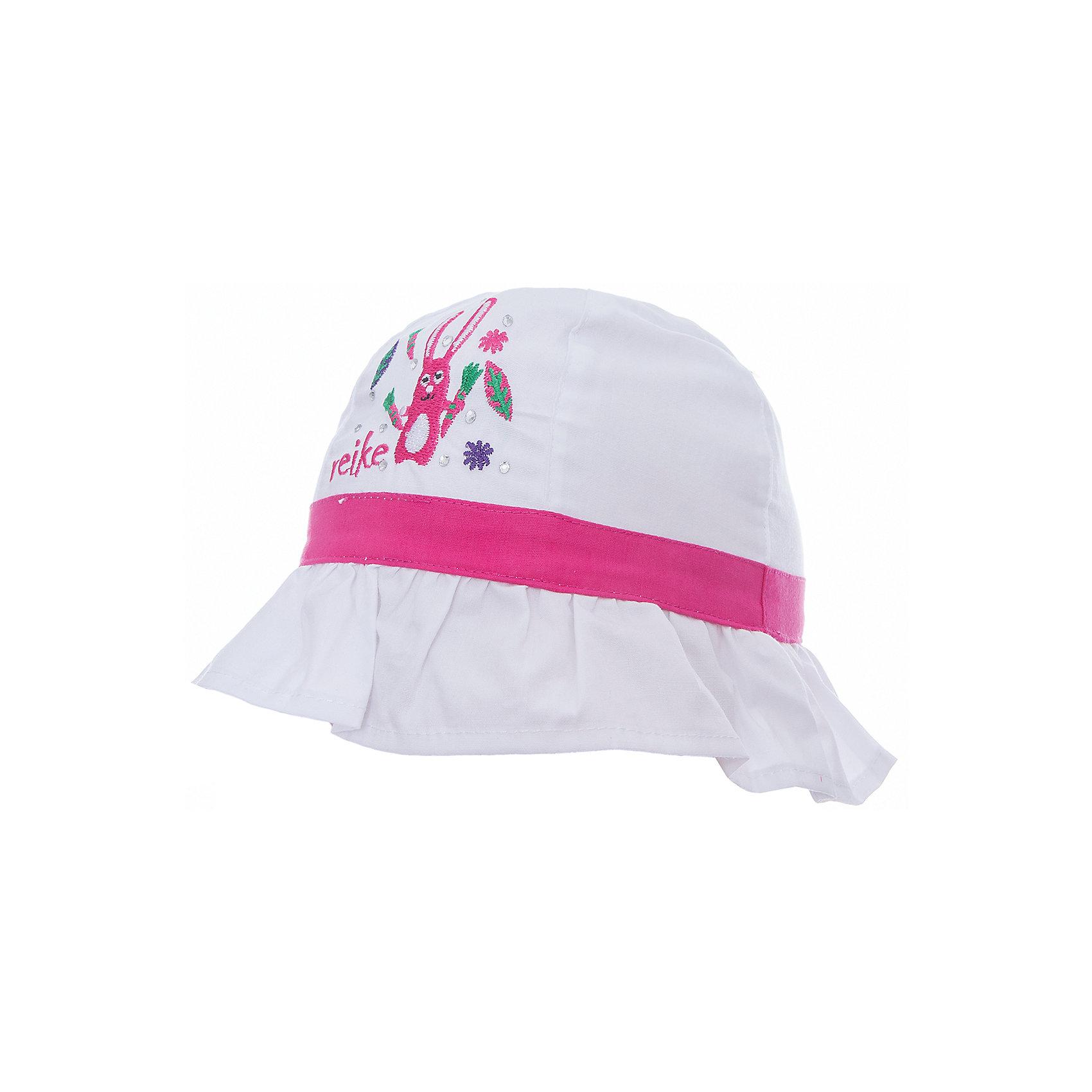 Панама Reike для девочкиШапки и шарфы<br>Характеристики товара:<br><br>• цвет: белый<br>• состав: 100% хлопок<br>• декорирована вышивкой и стразами<br>• мягкий материал<br>• страна бренда: Финляндия<br><br>Новая коллекция от известного финского производителя Reike отличается ярким дизайном, продуманностью и комфортом! Эта модель разработана специально для детей - она учитывает особенности их физиологии, а также новые тенденции в европейской моде. Стильная и удобная вещь!<br><br>Панаму для девочки от популярного бренда Reike можно купить в нашем интернет-магазине.<br><br>Ширина мм: 89<br>Глубина мм: 117<br>Высота мм: 44<br>Вес г: 155<br>Цвет: белый<br>Возраст от месяцев: 24<br>Возраст до месяцев: 36<br>Пол: Женский<br>Возраст: Детский<br>Размер: 50,46,48<br>SKU: 5430544